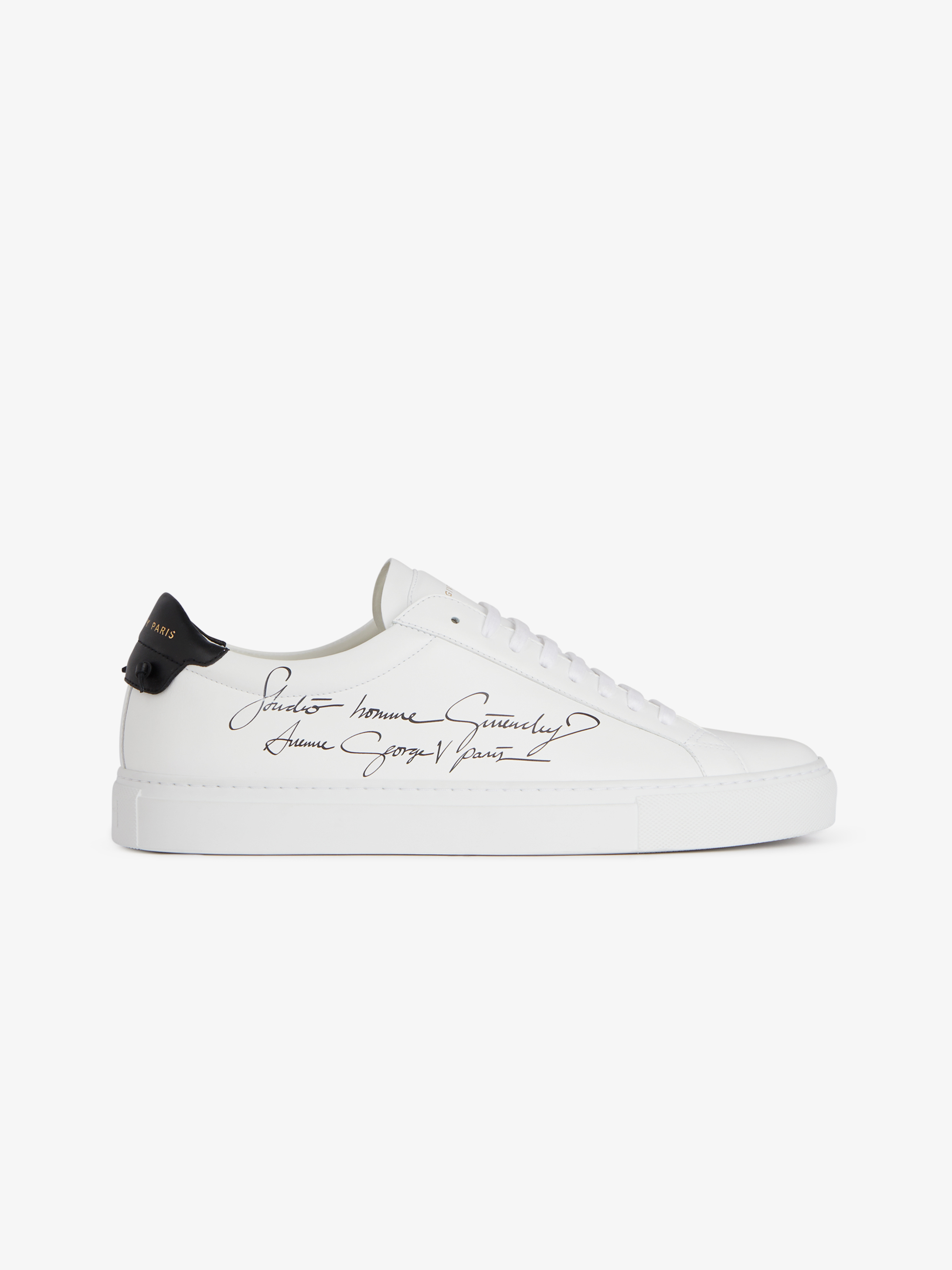 Studio Homme two tone sneakers in matte leather