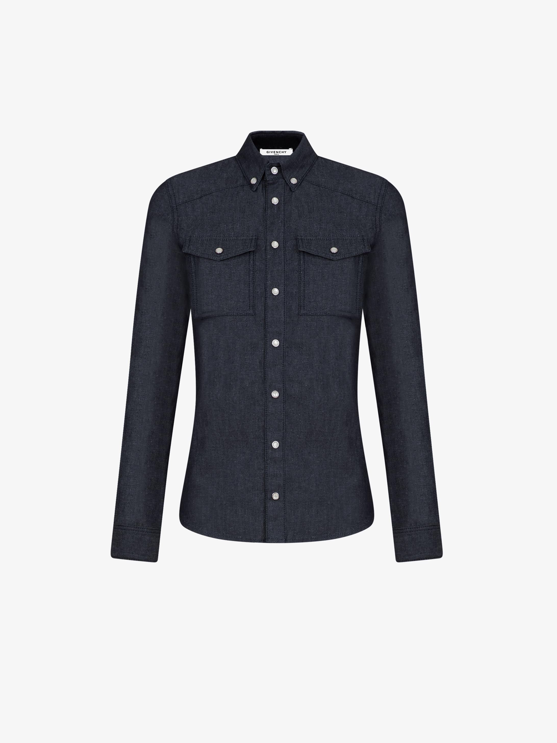 GIVENCHY PARIS denim slim shirt