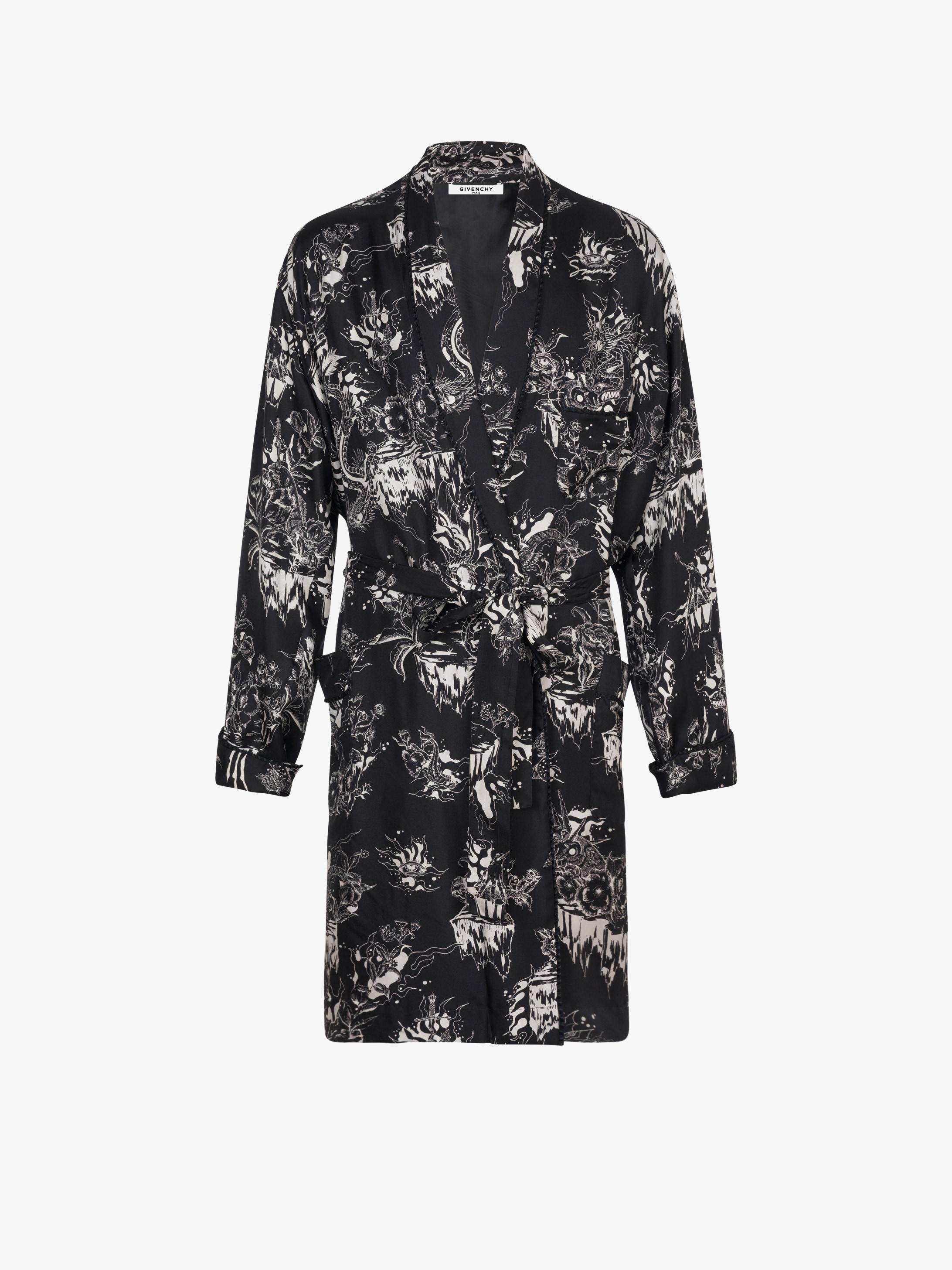 Monsters printed Kimono robe shirt