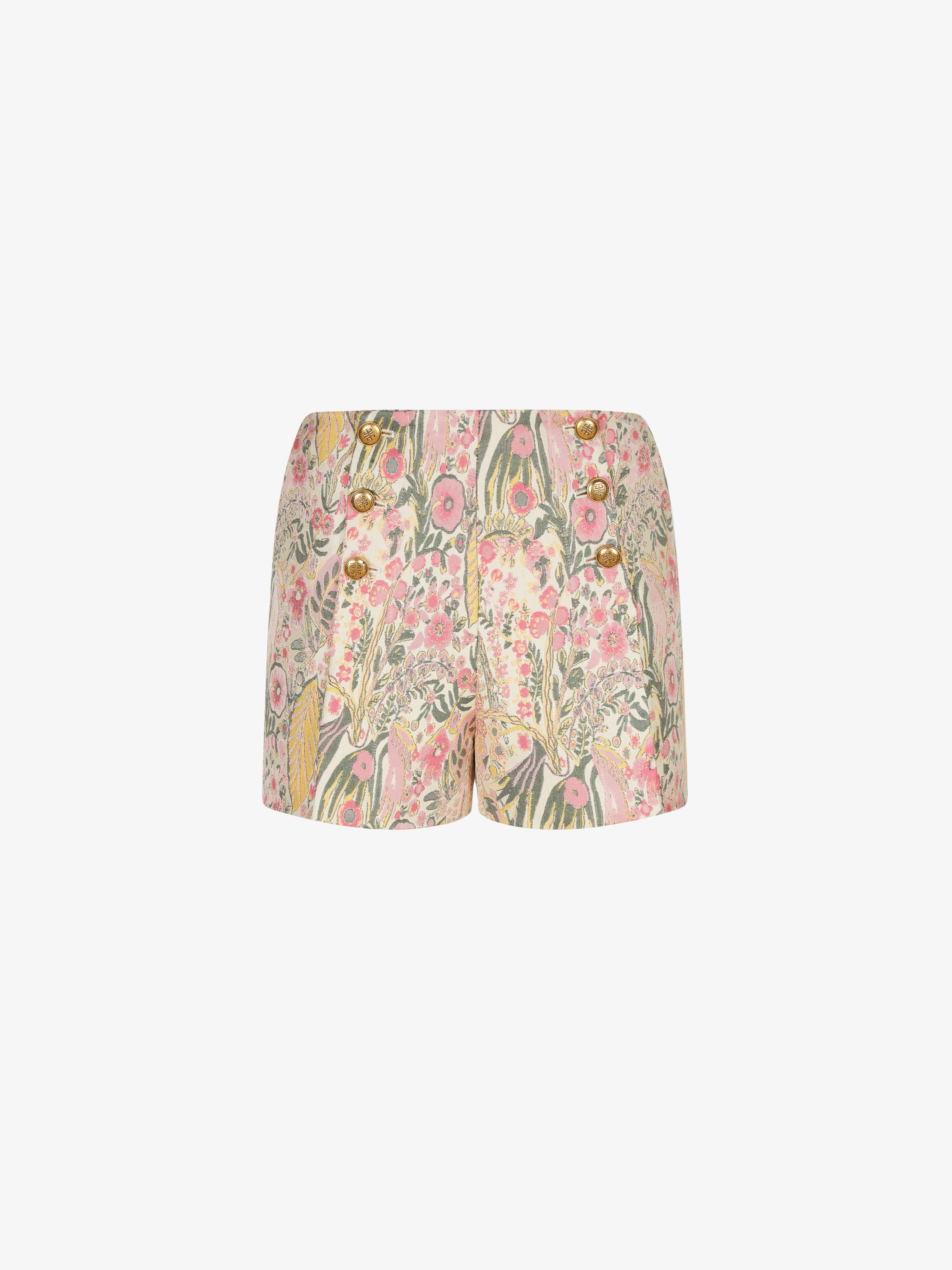 Mini short in floral jacquard with 4G buttons