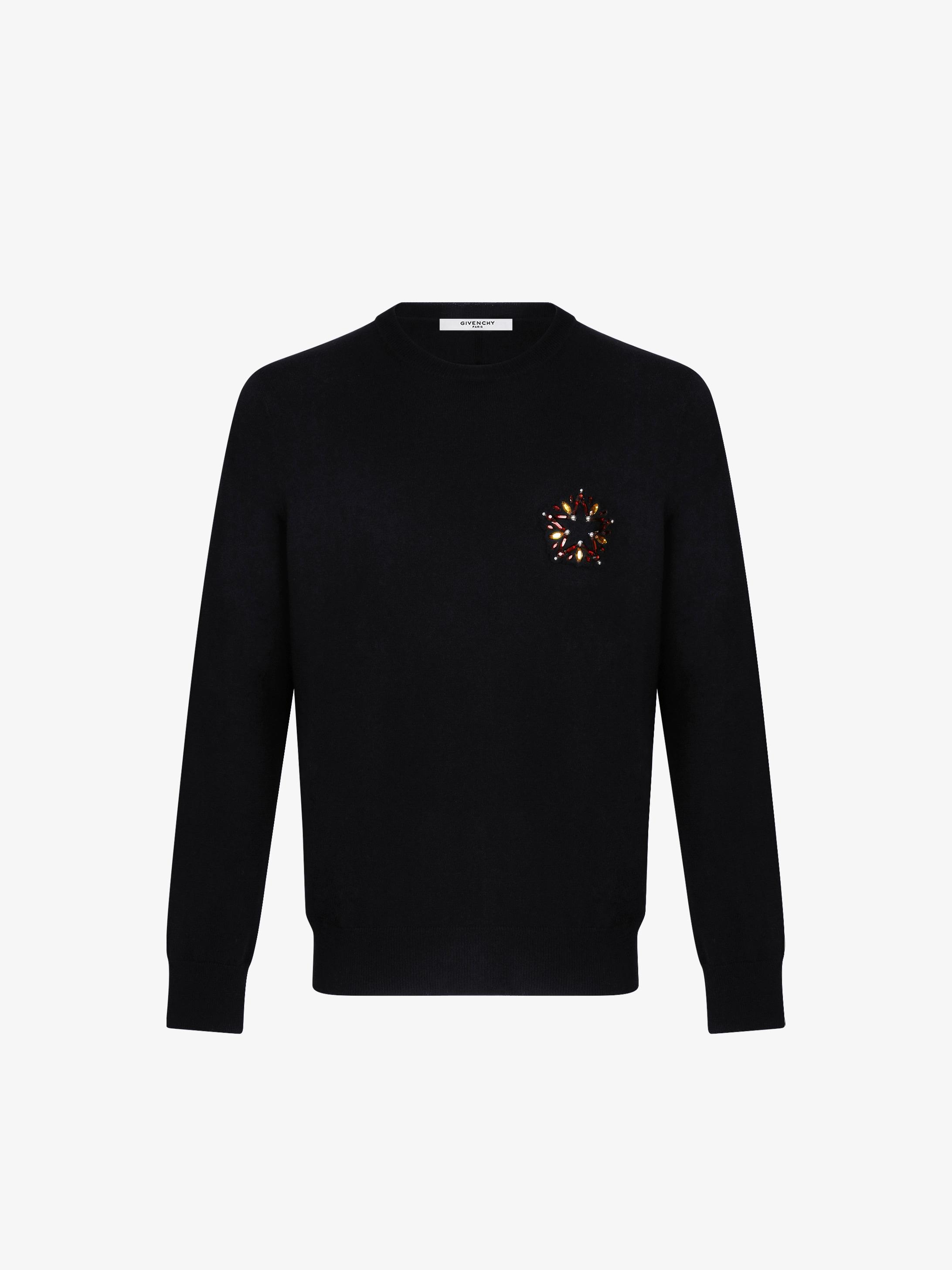 Star embroidered jumper