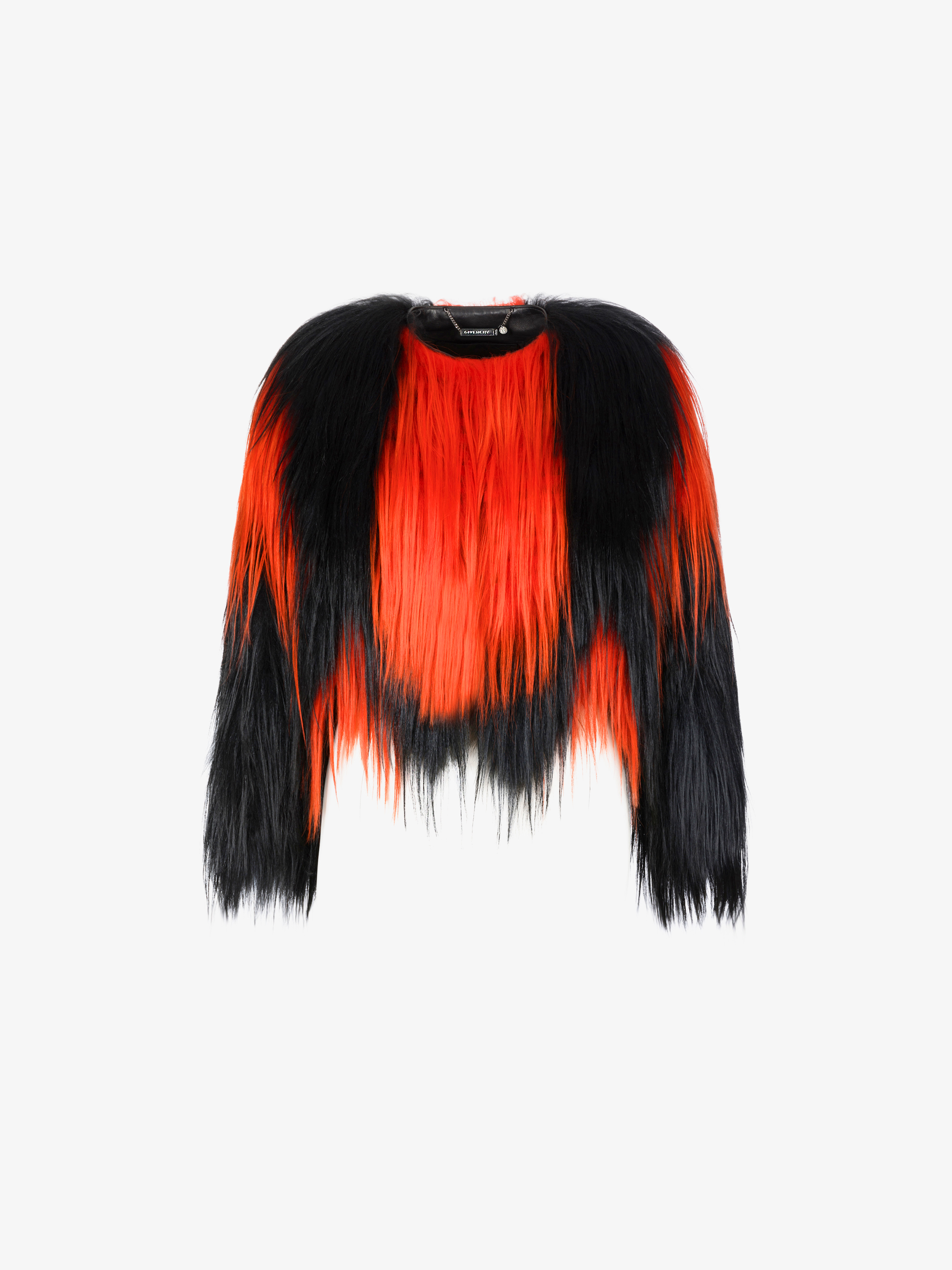 Two-toned fur short jacket