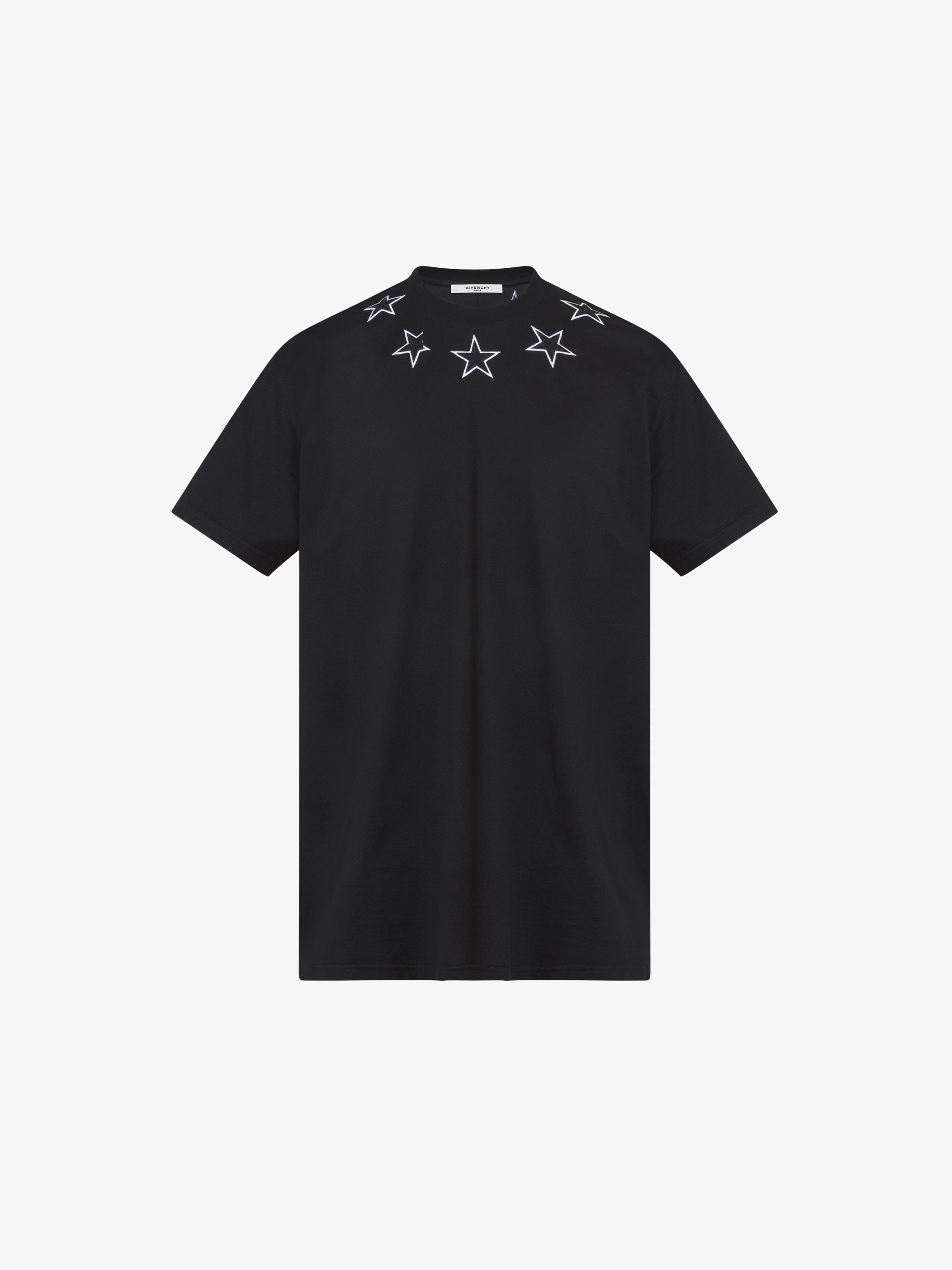 五角星刺绣超大T恤