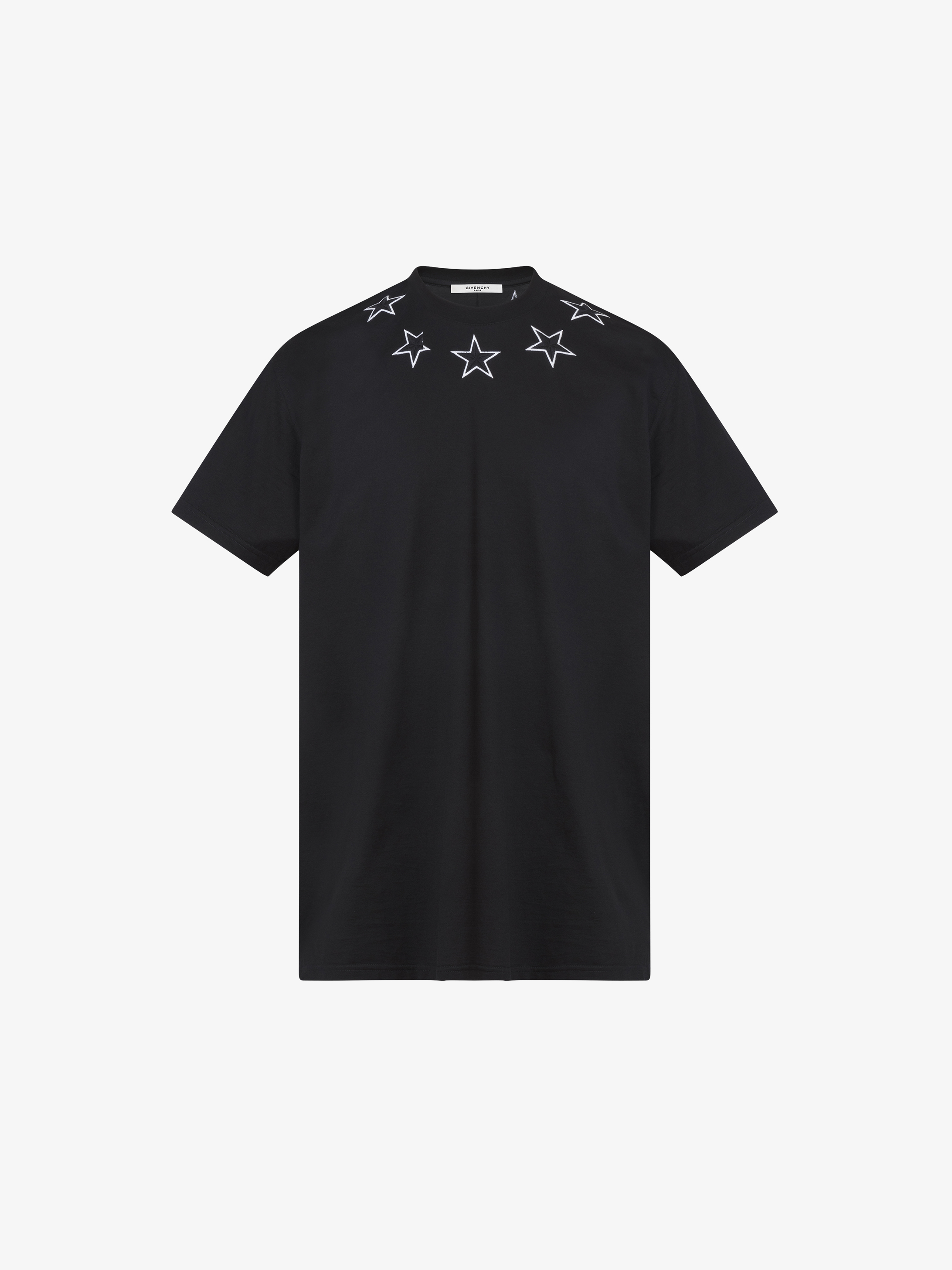 T-shirt oversized brodé etoiles