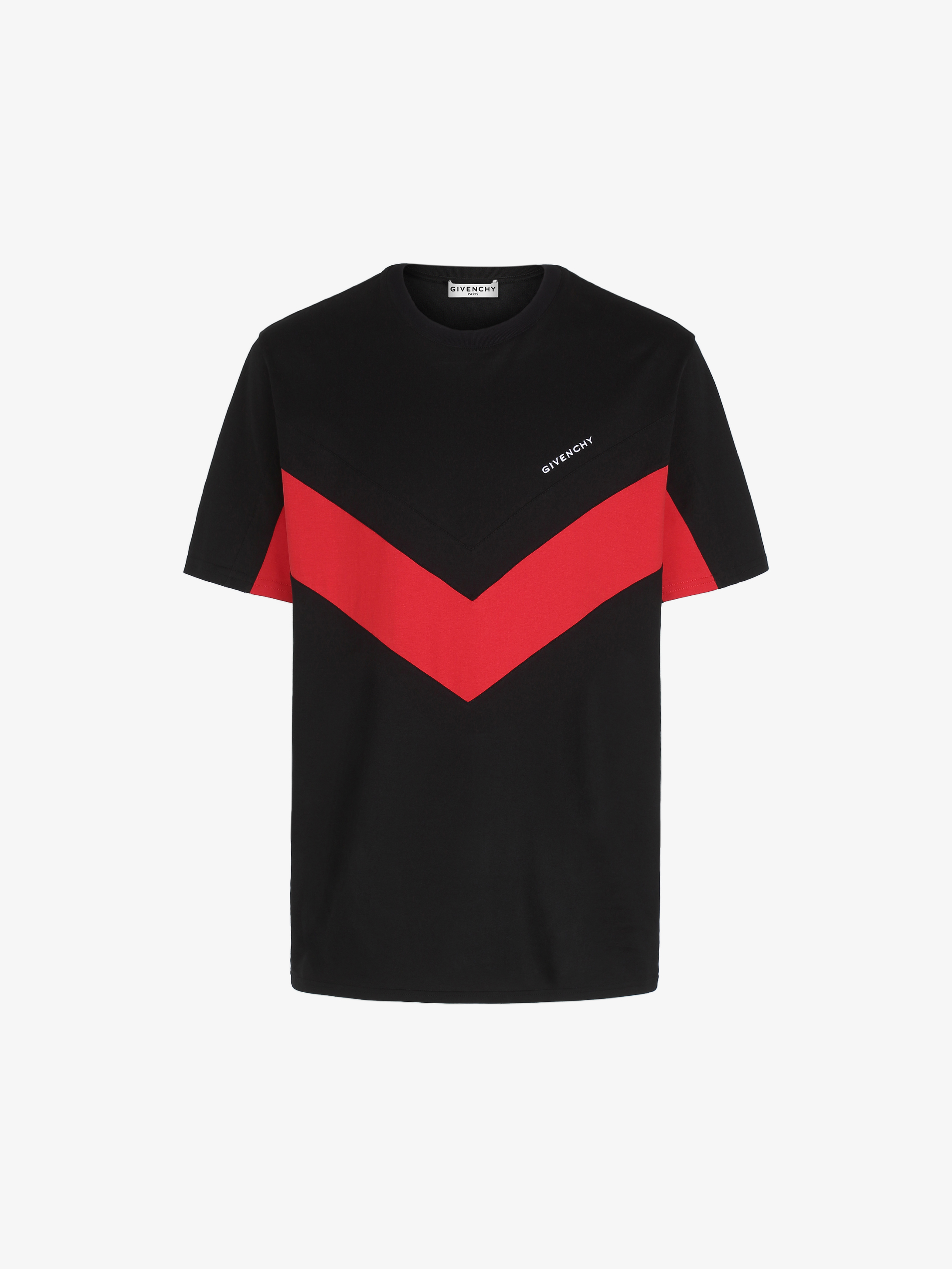 T-shirt con strisce a V a contrasto