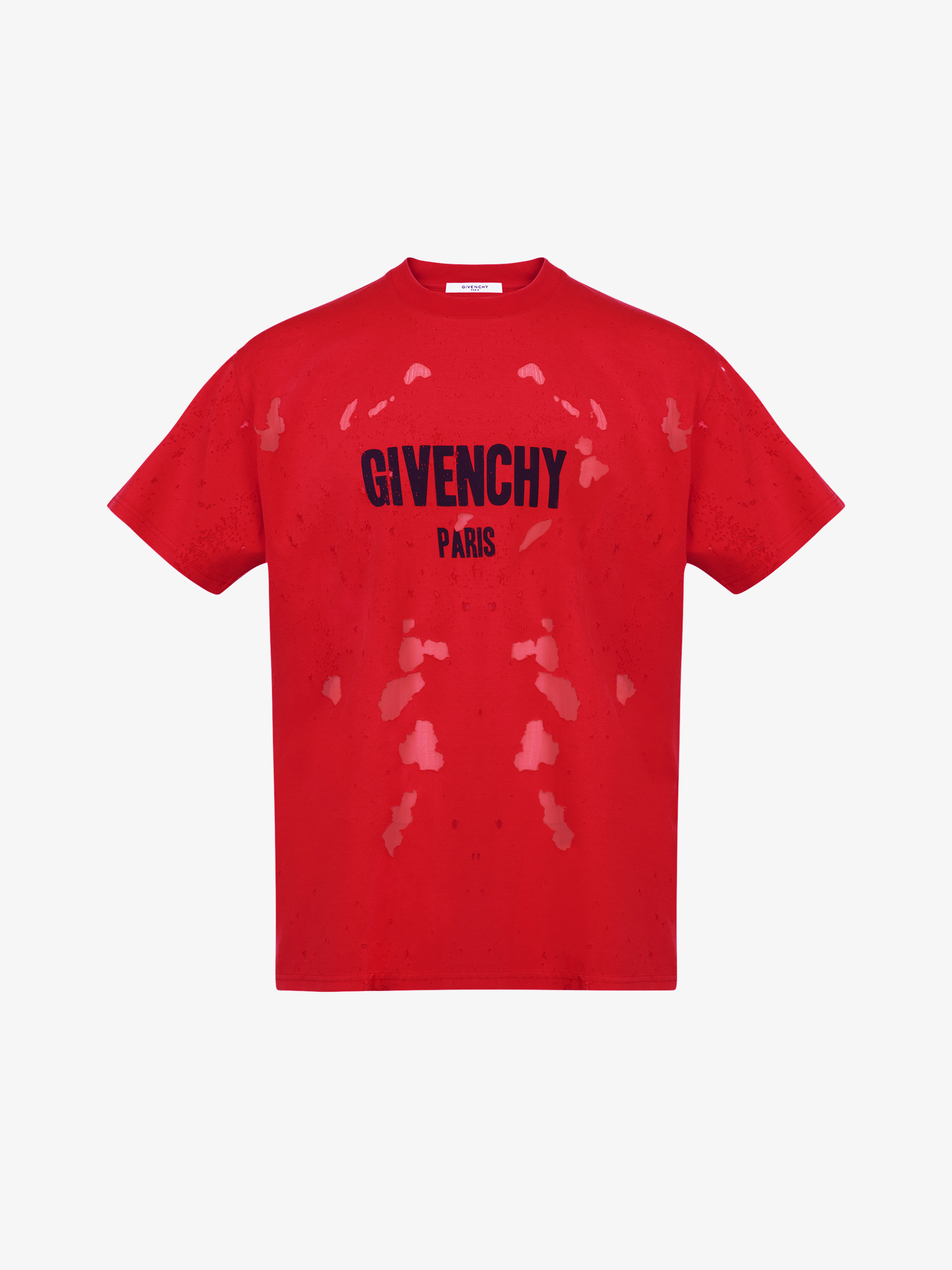 T-shirt GIVENCHY PARIS effetto destroyed