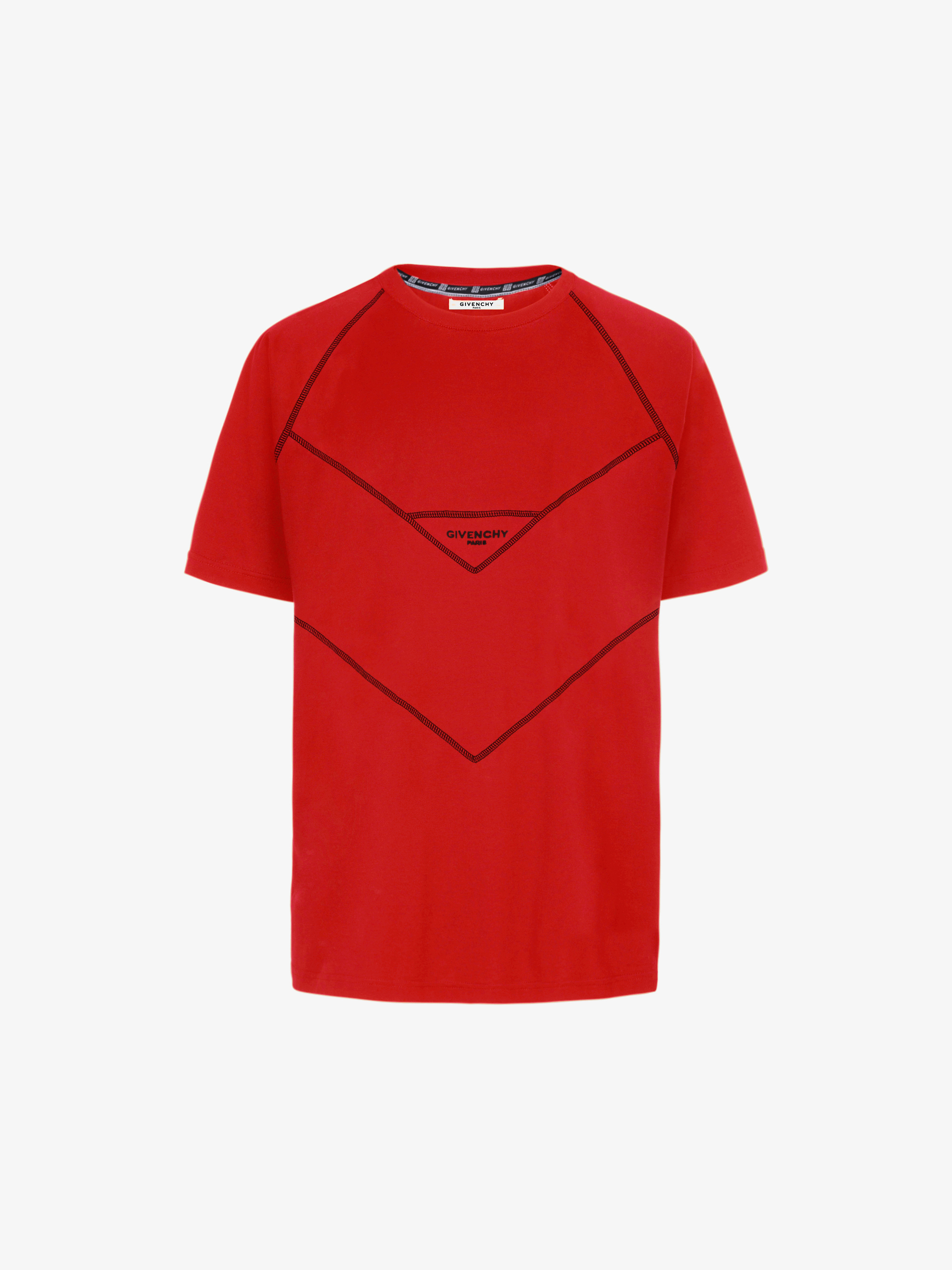 GIVENCHY PARIS contrasting stitching T-shirt