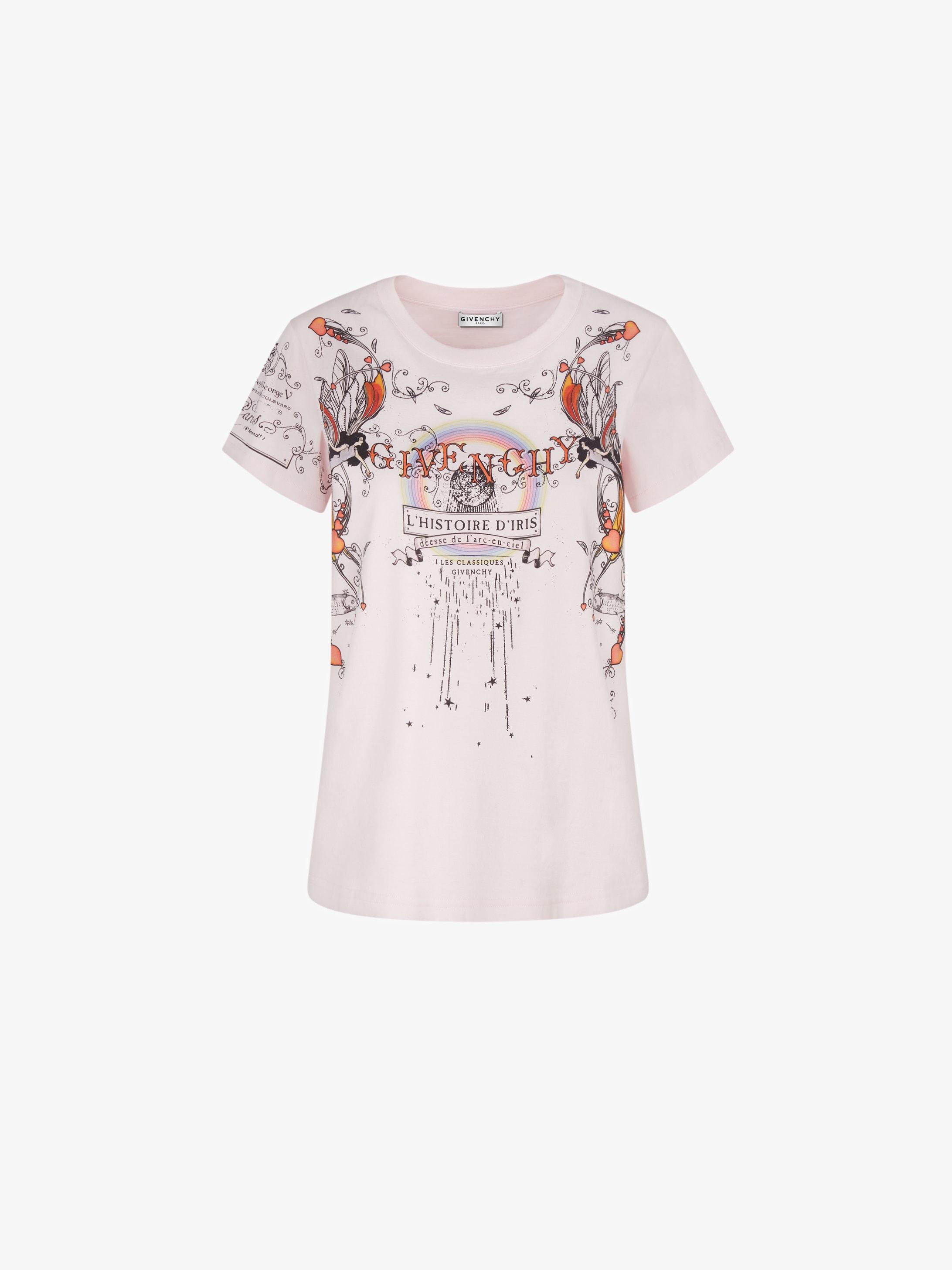 Iris story printed slim fit t-shirt