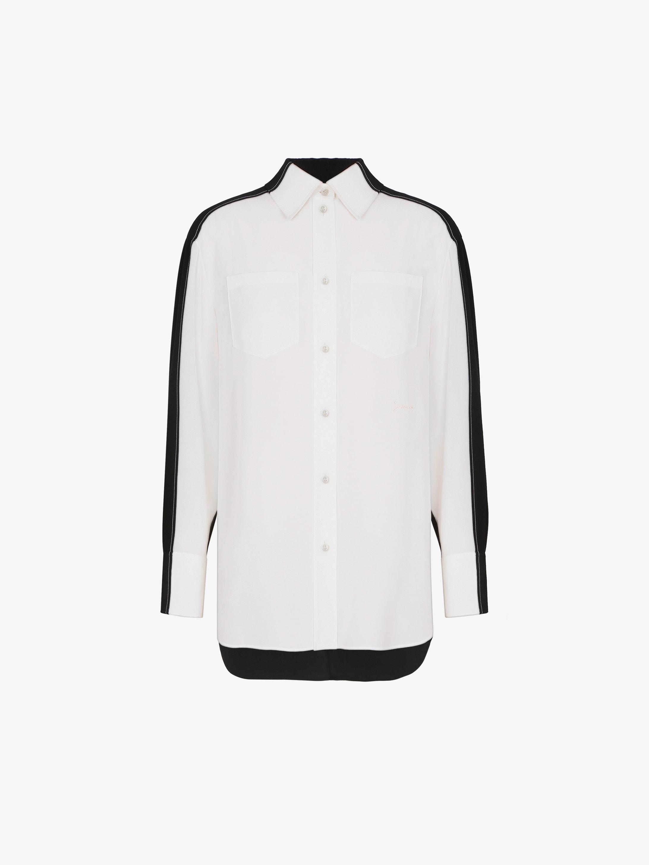 Shirt in crêpe de Chine