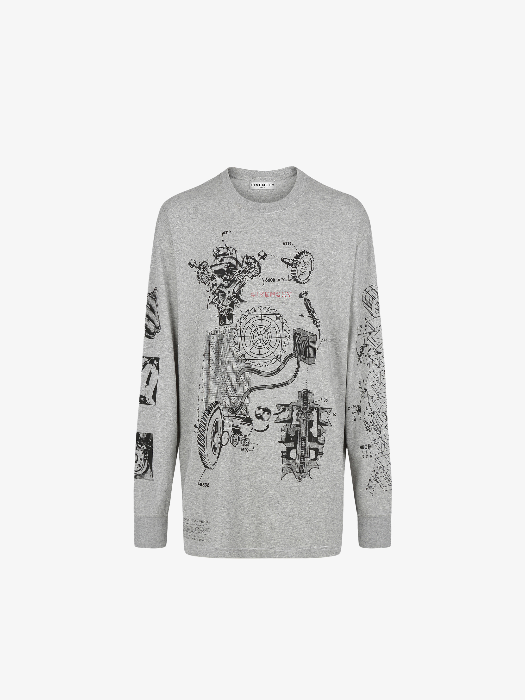 GIVENCHY Schematics oversized T-shirt