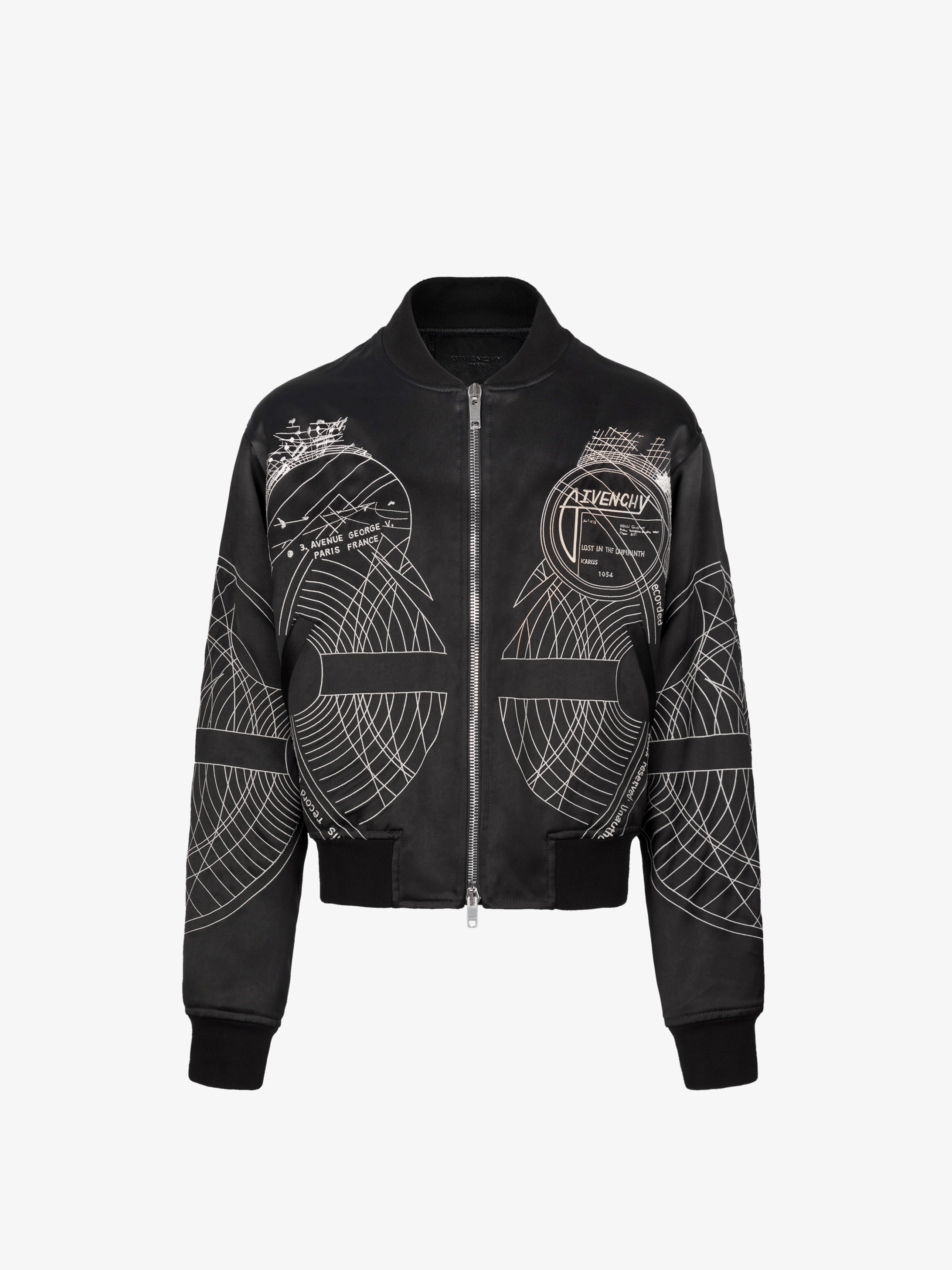 Sun and Moon embroidered bomber jacket
