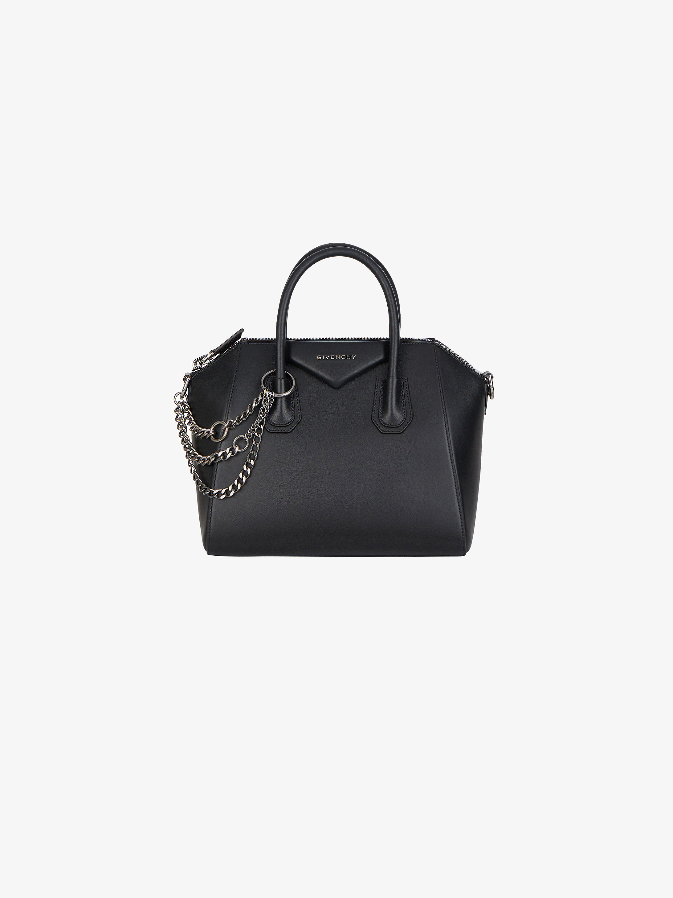 Small Antigona bag in leather with chains
