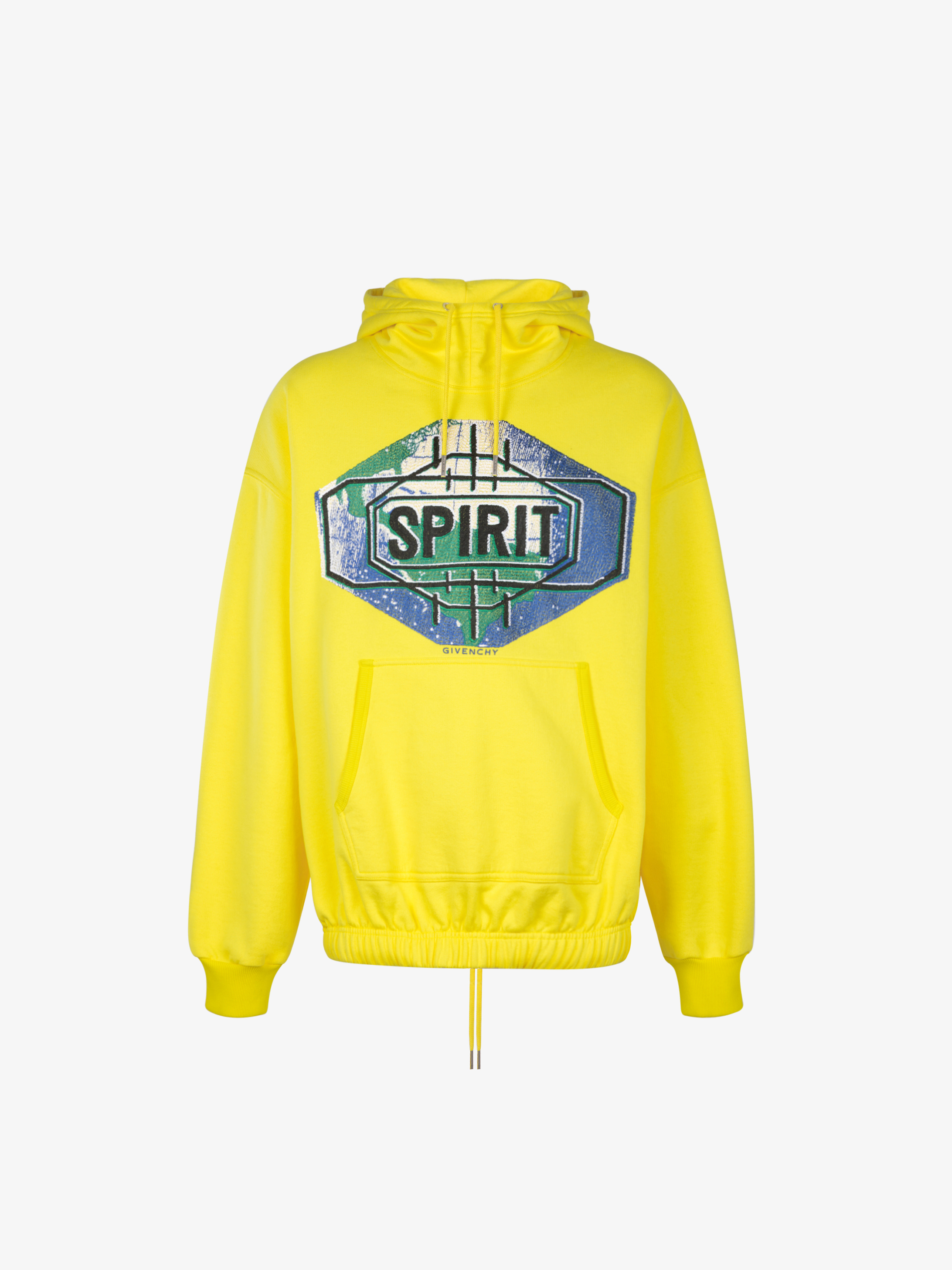 Spirit embroidered oversized hoodie