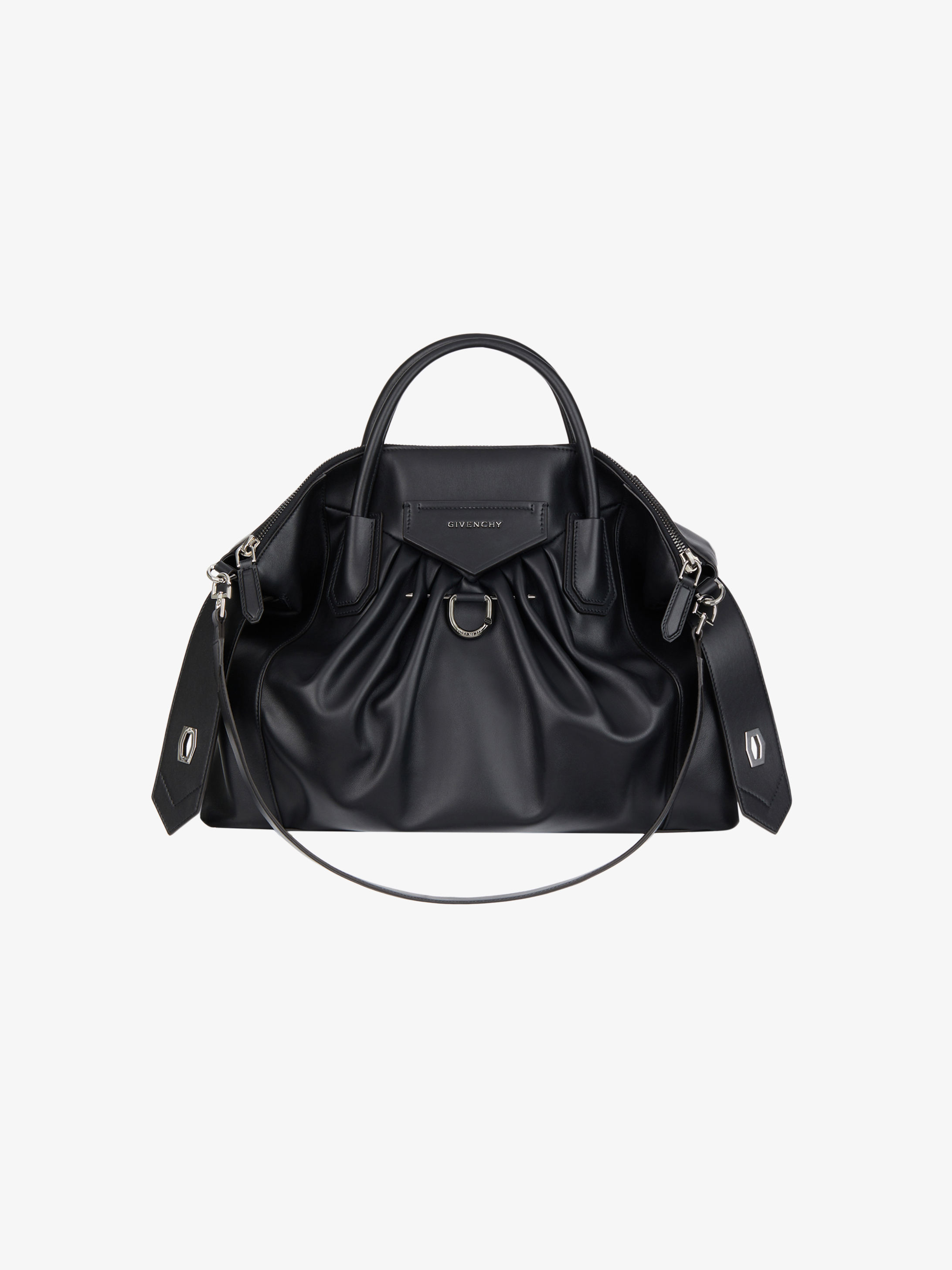Medium Antigona Soft bag in pleated leather with piercing