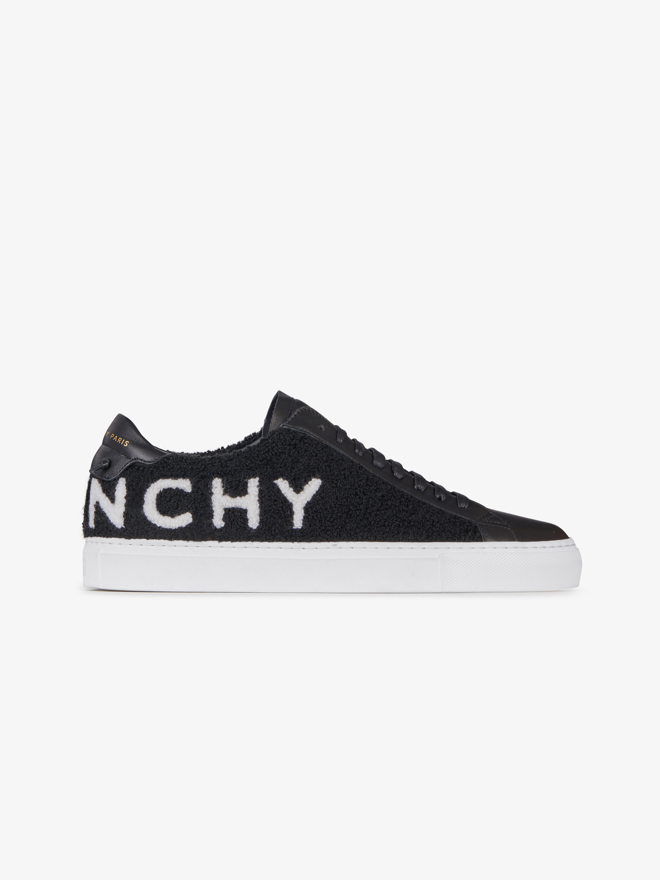 GIVENCHY sneakers in leather and terrycloth