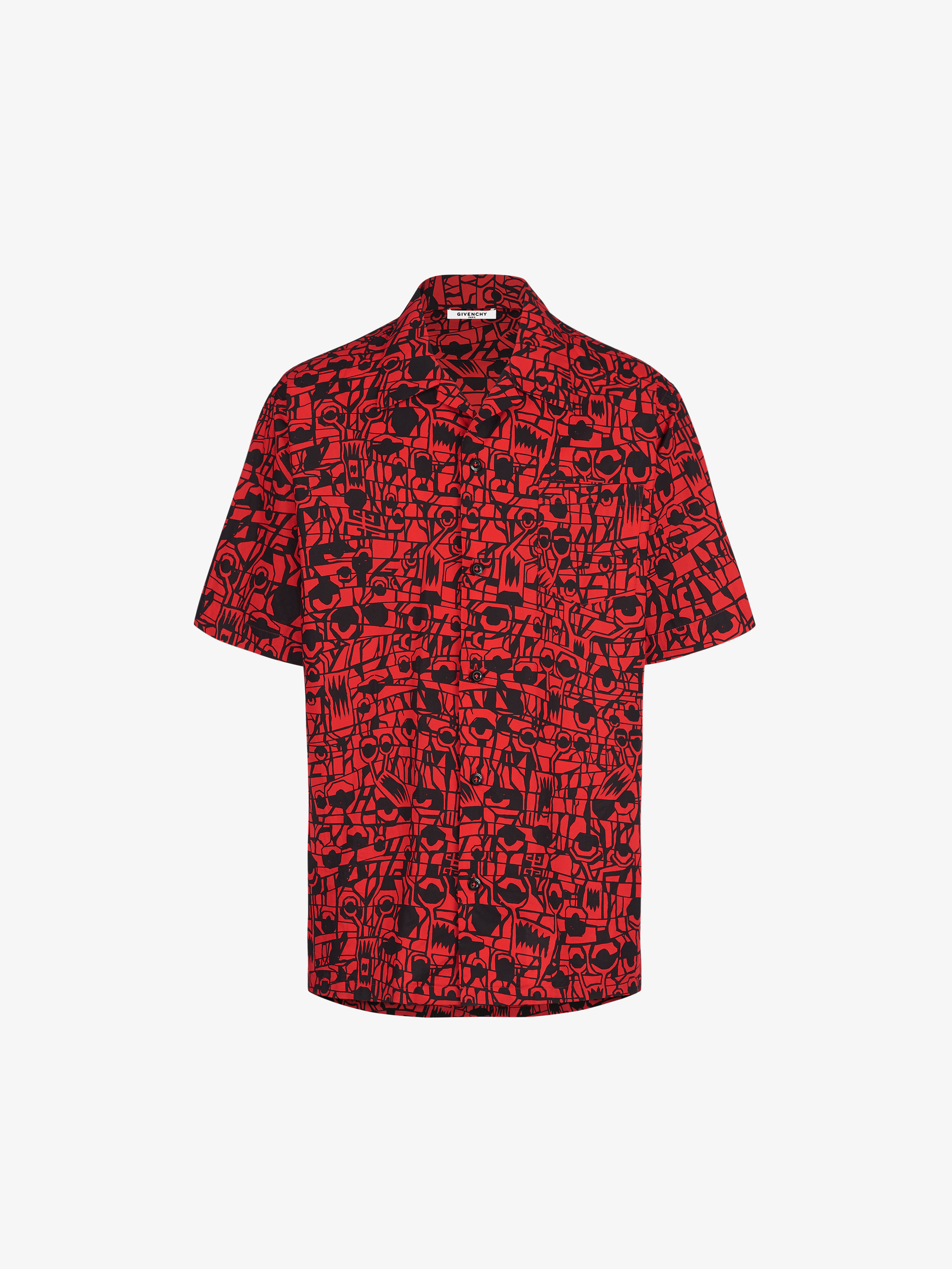 d815f993 Monster printed Hawaiian shirt in cotton | GIVENCHY Paris