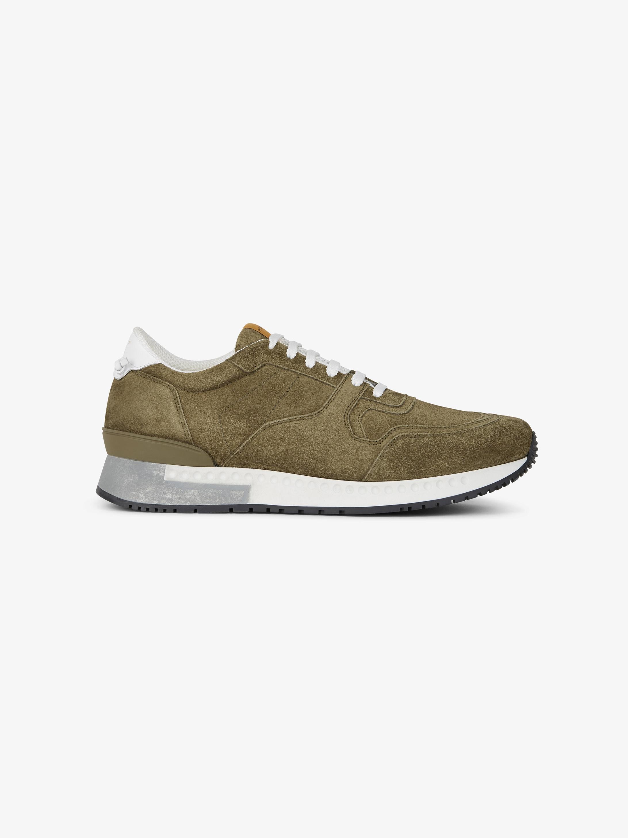 Runner sneakers in suede