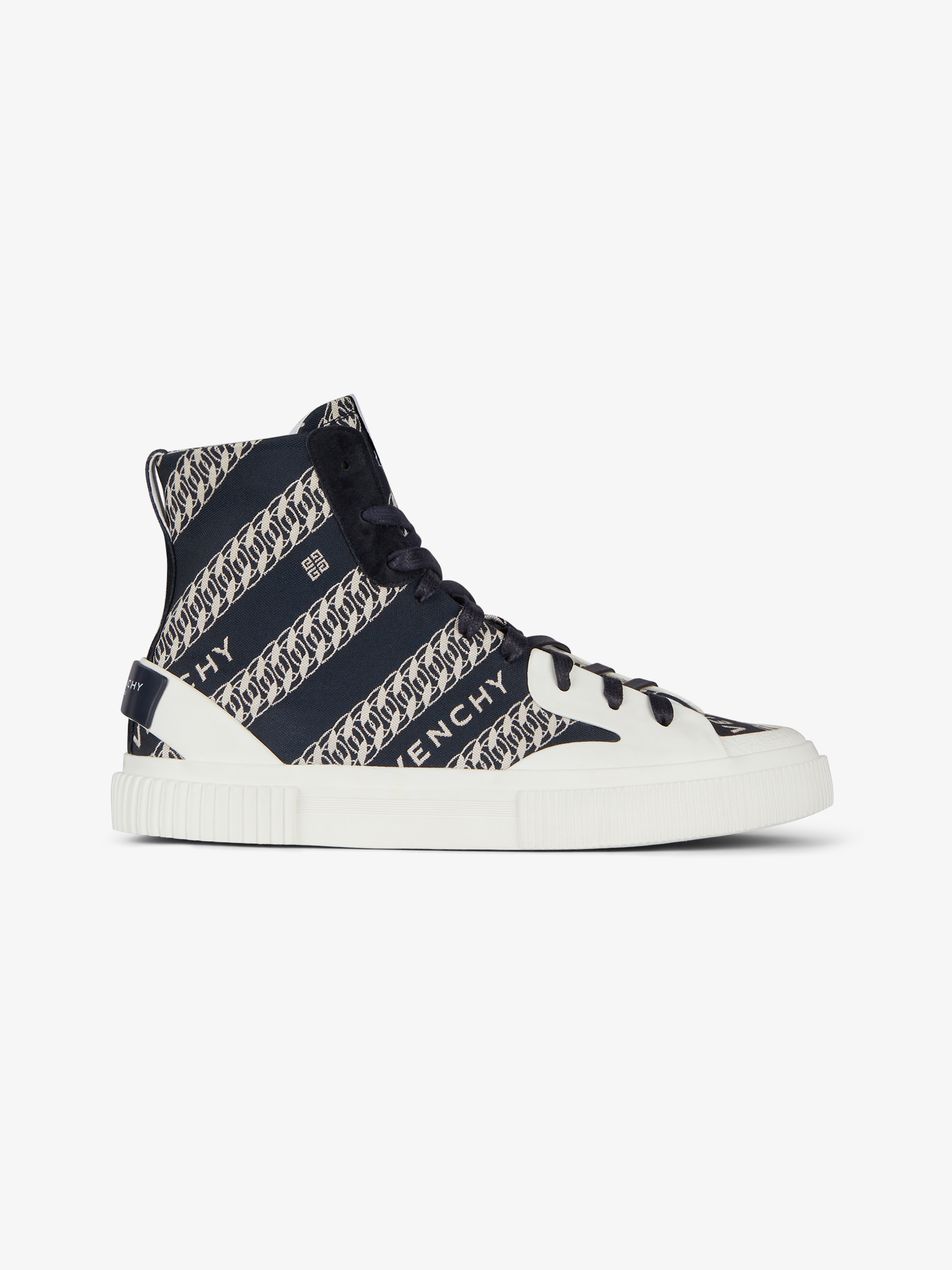 GIVENCHY chain Tennis Light high top sneakers in canvas