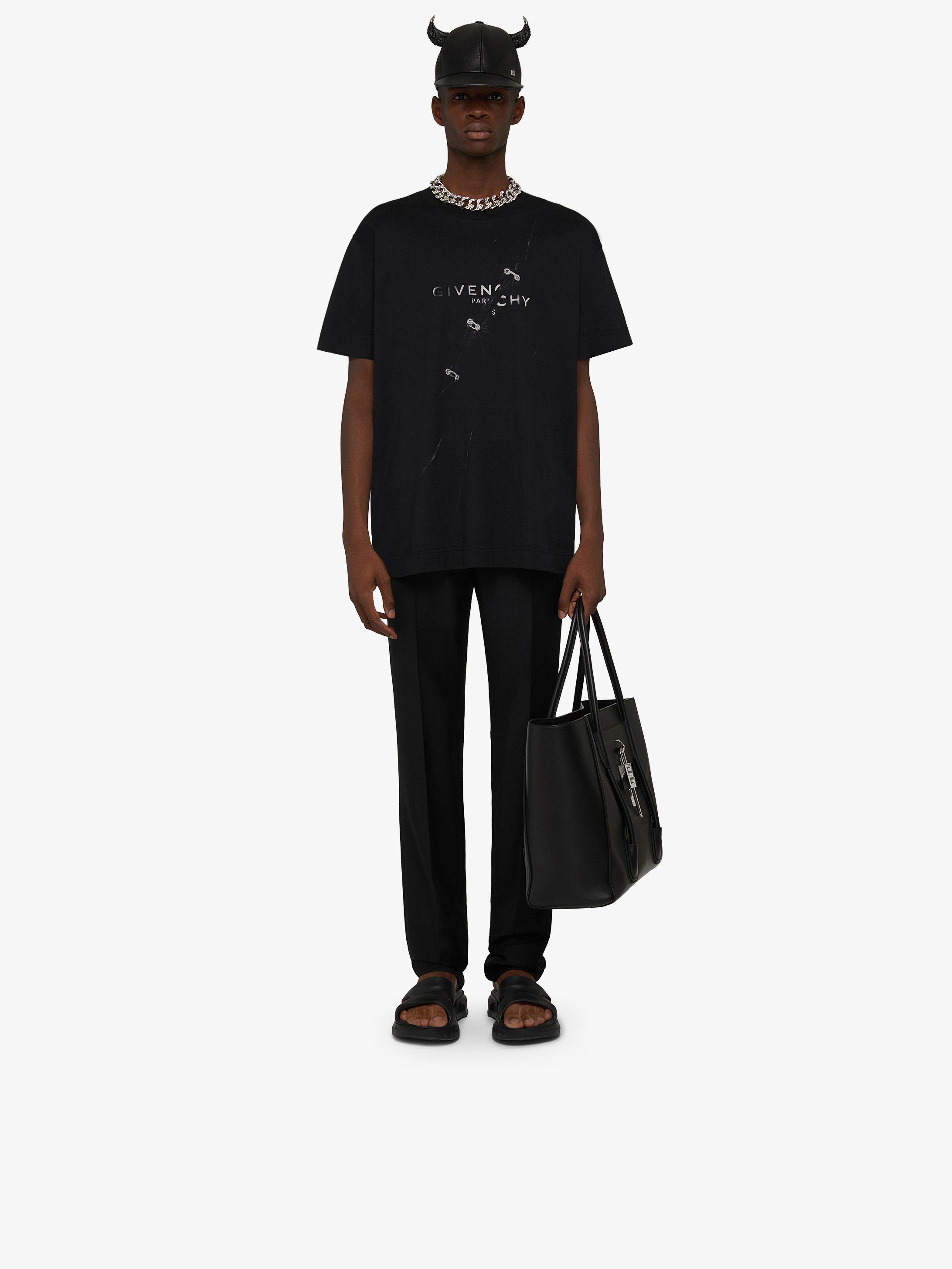 GIVENCHY oversized T-shirt with trompe-l'oeil effect