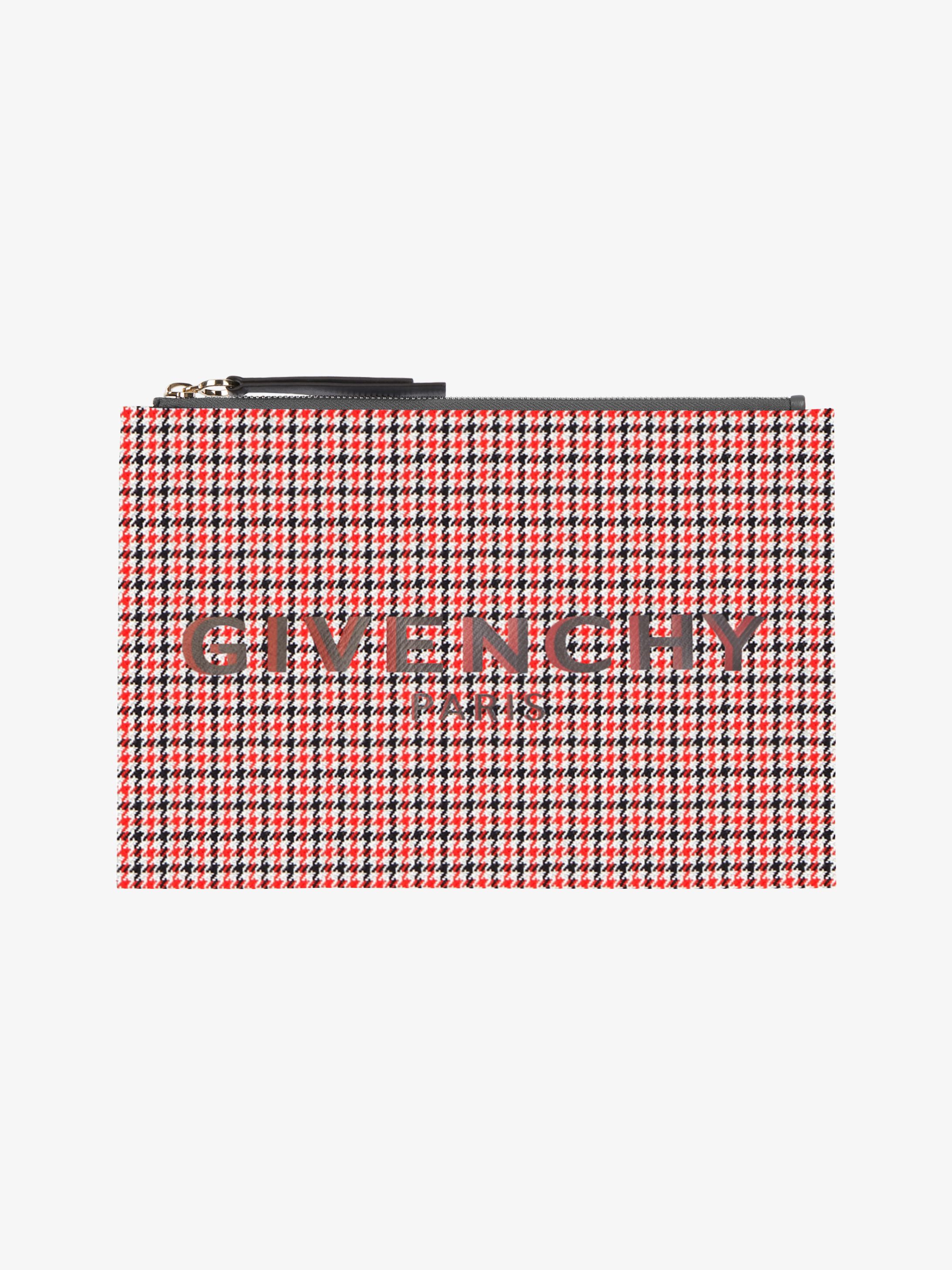 GIVENCHY PARIS medium pouch in houndstooth