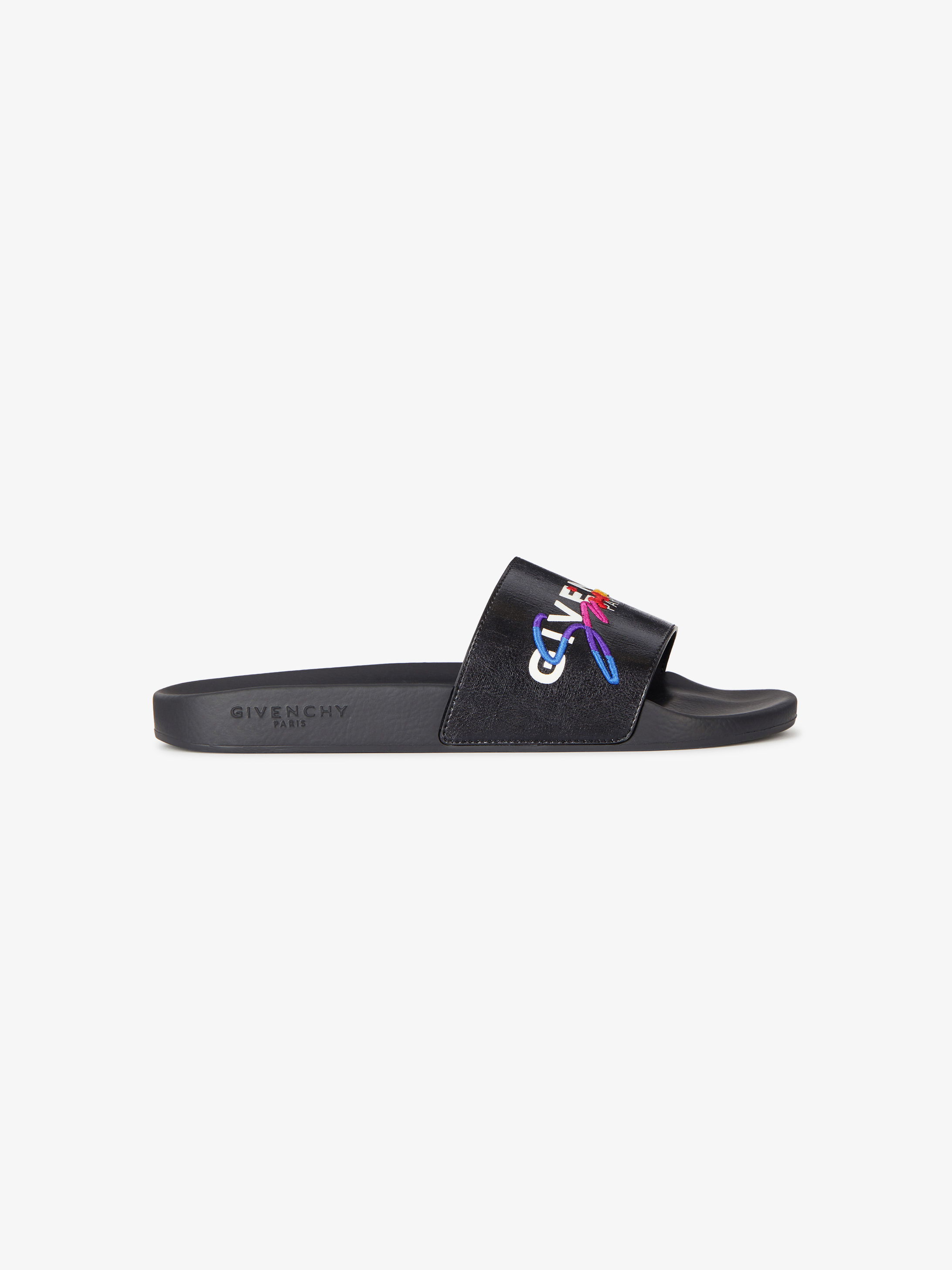GIVENCHY signature sandals in coated canvas