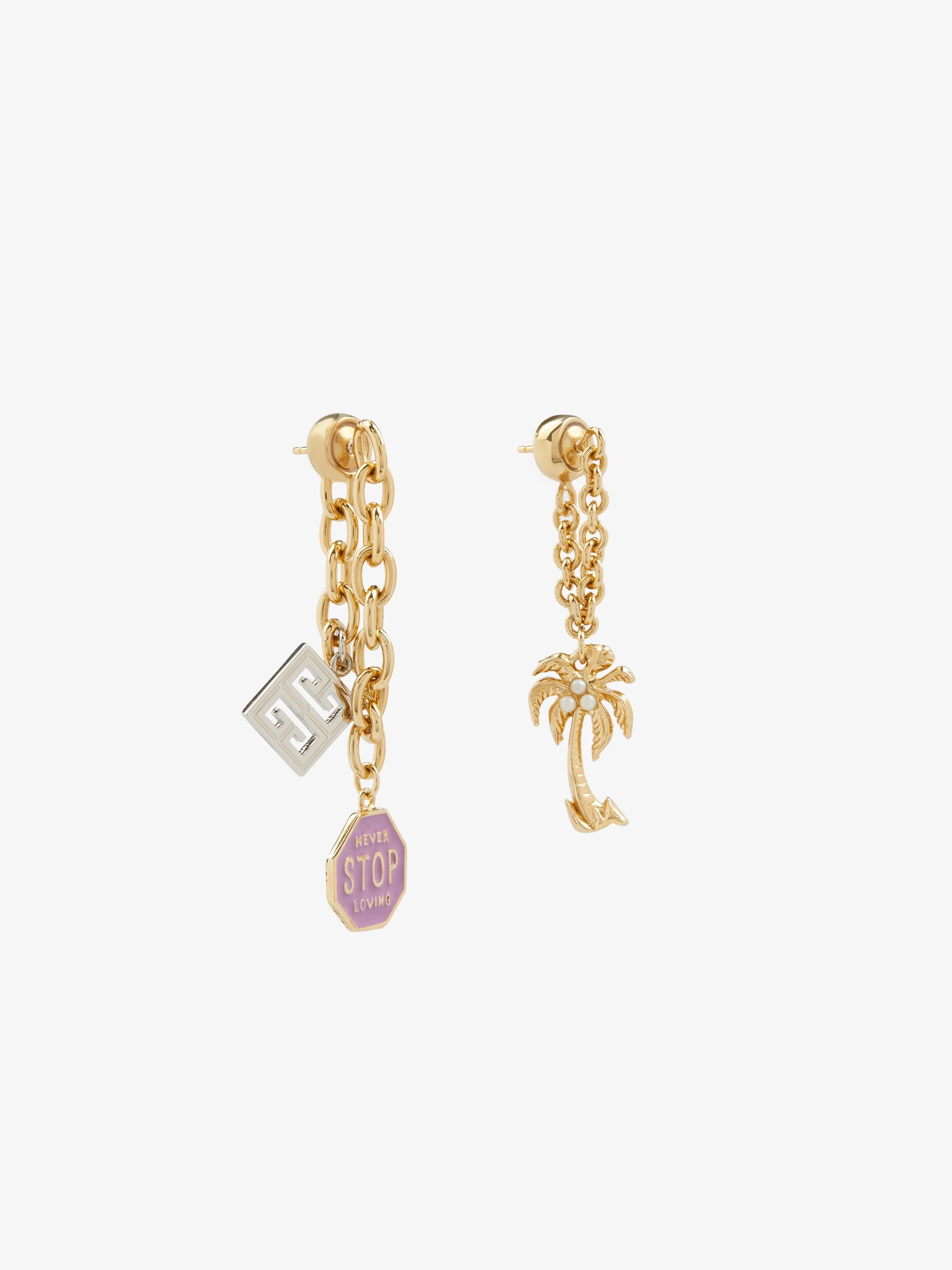 GIVENCHY Charms asymmetrical earrings