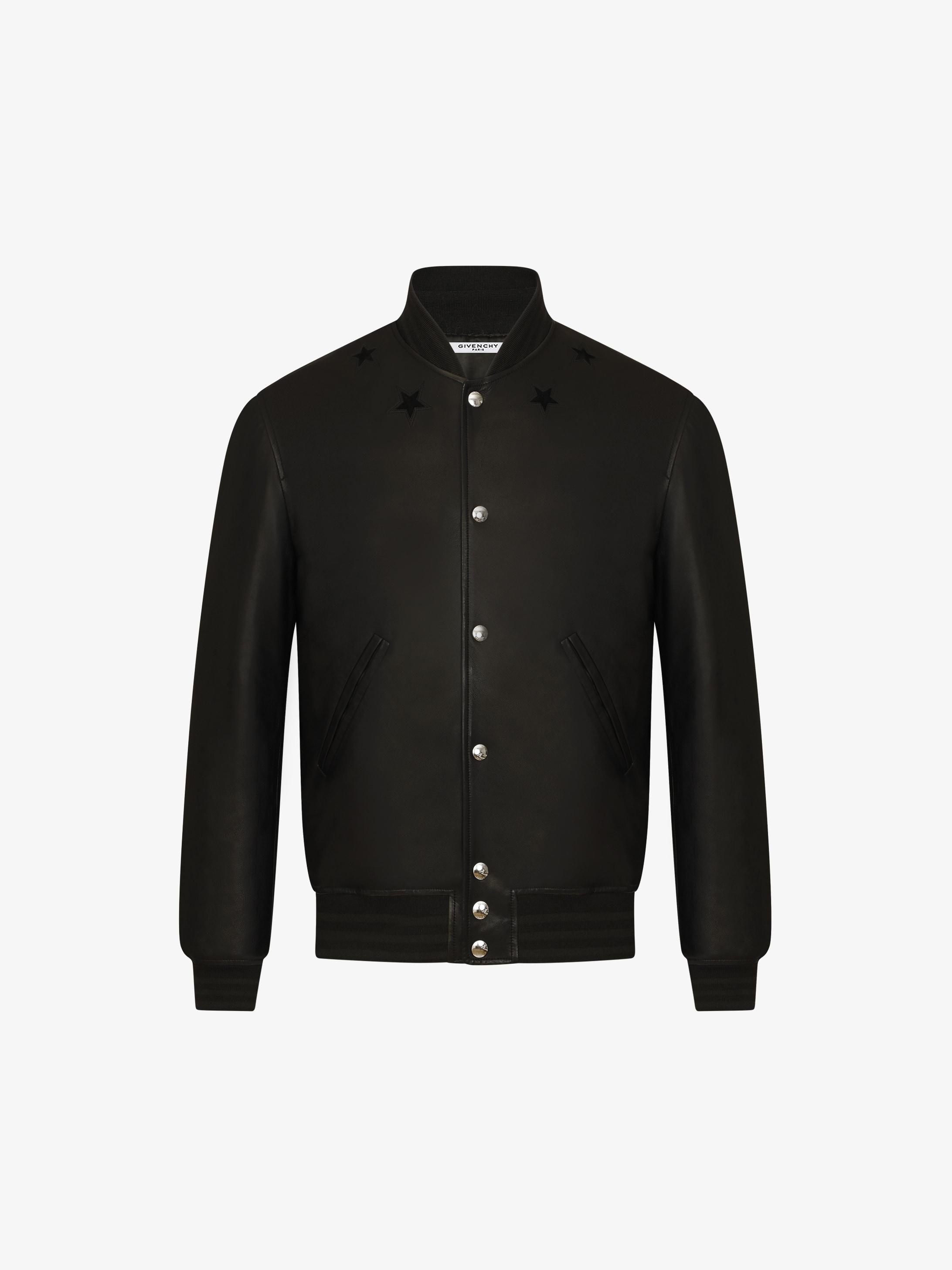 Star around the neck bomber jacket