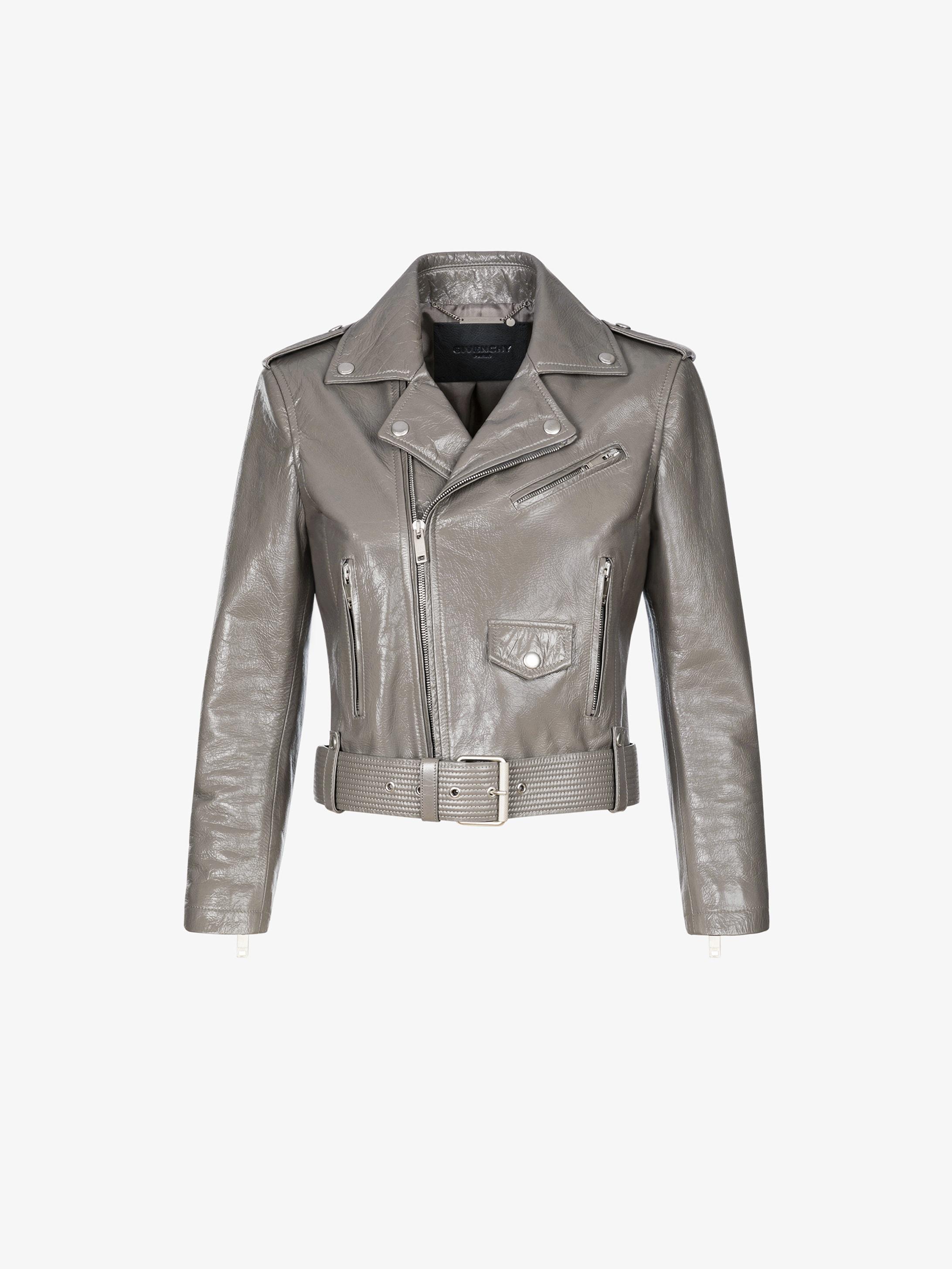 Vintage biker jacket in leather