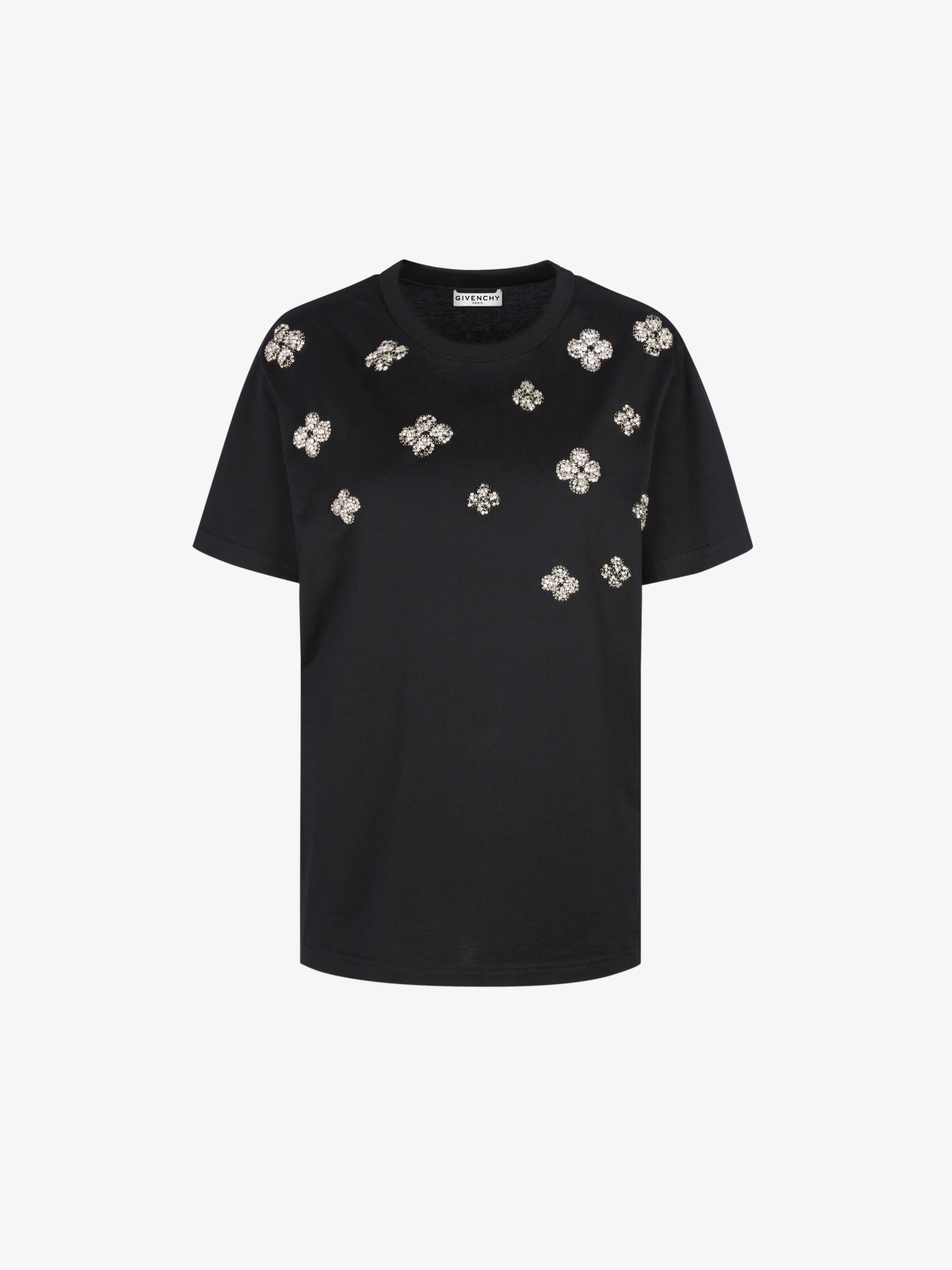 GIVENCHY crystals embroidered  t-shirt