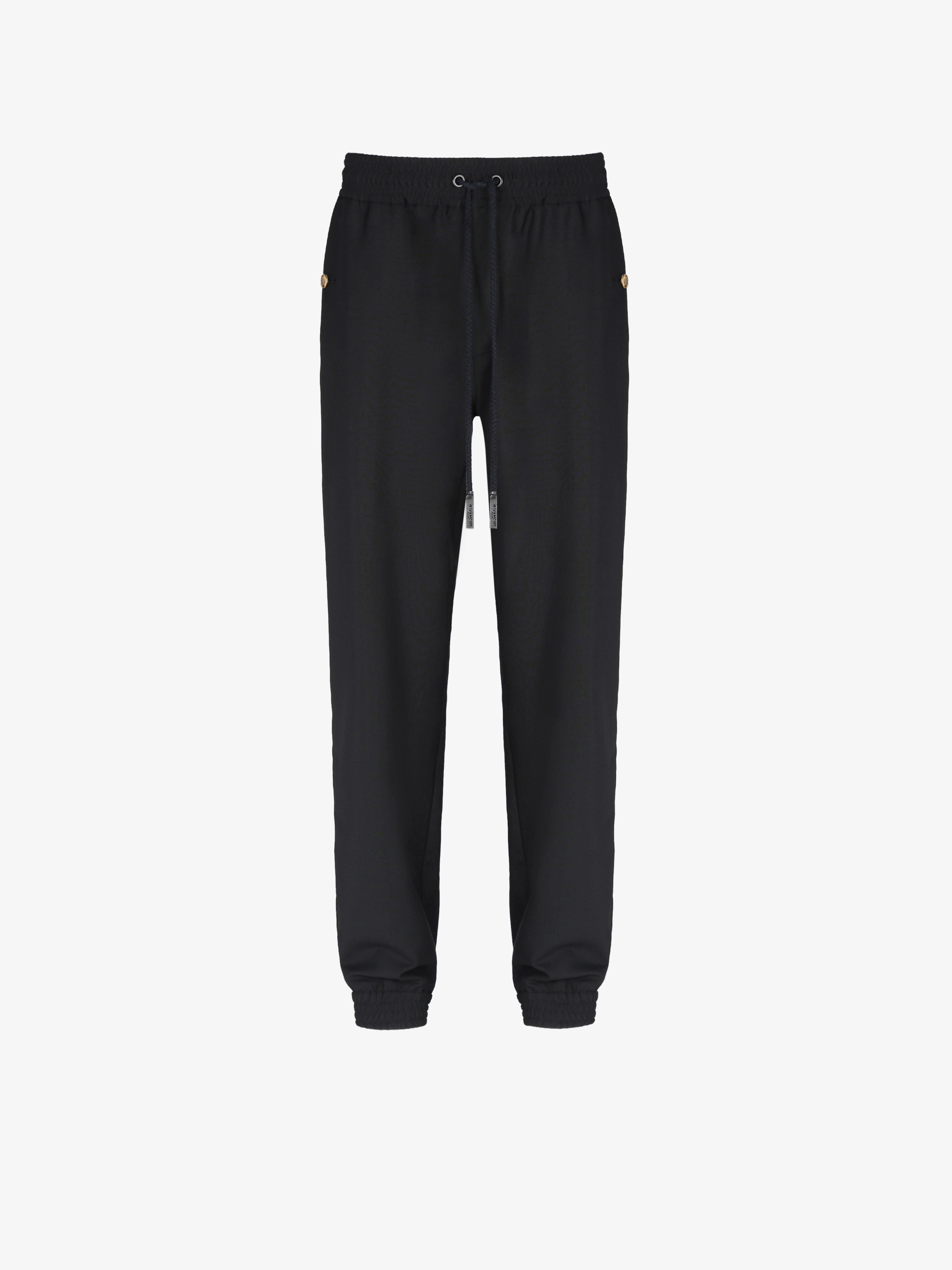 Jogger pants with 4G buttons in wool and mohair