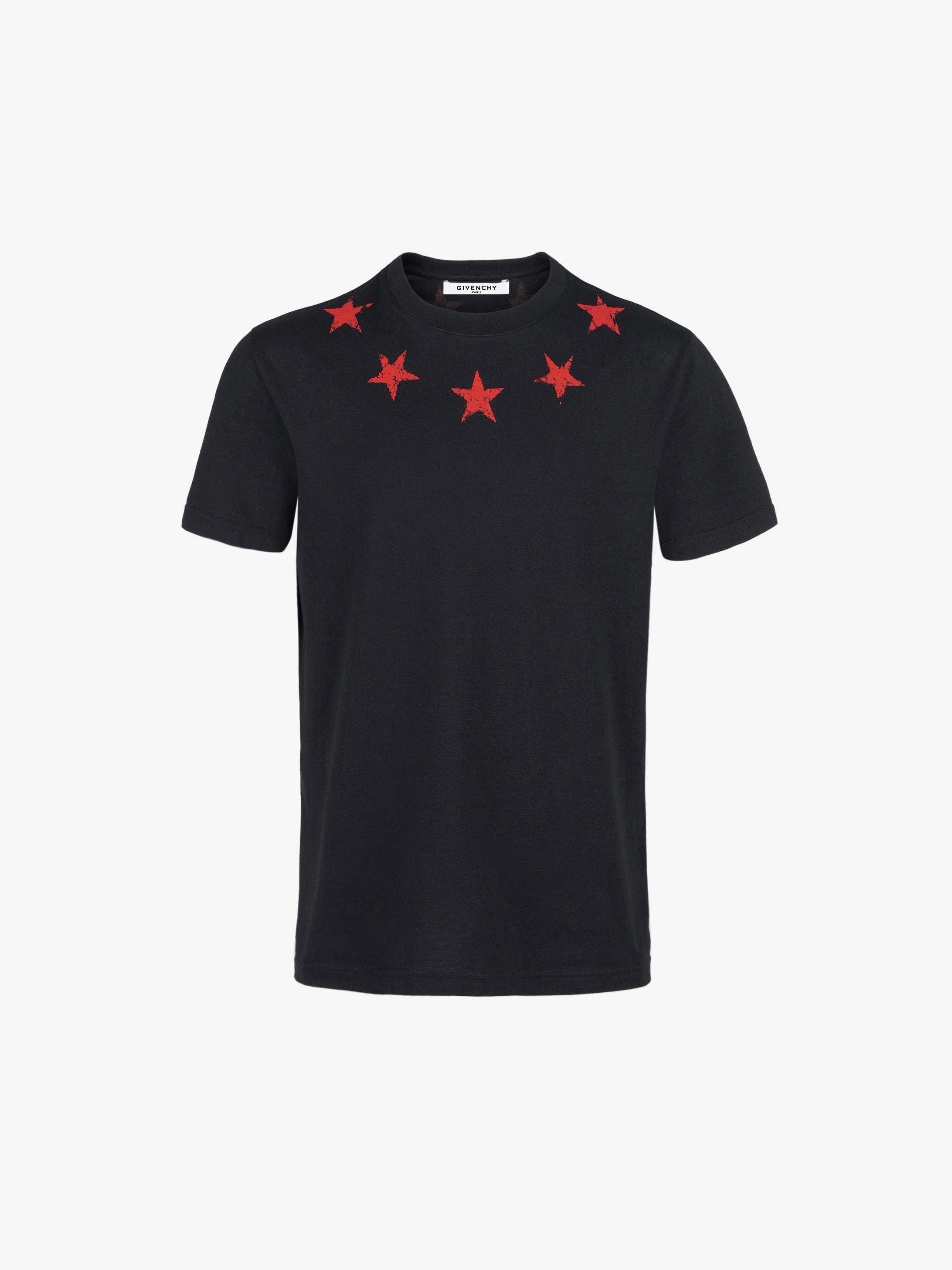 Vintage stars around the neck slim T-shirt