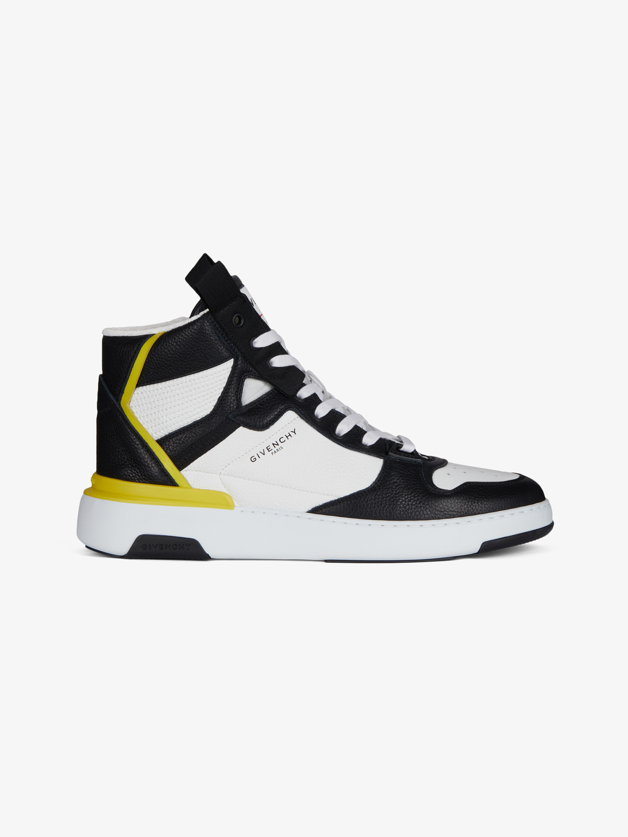 Wing mid three tone sneakers in leather
