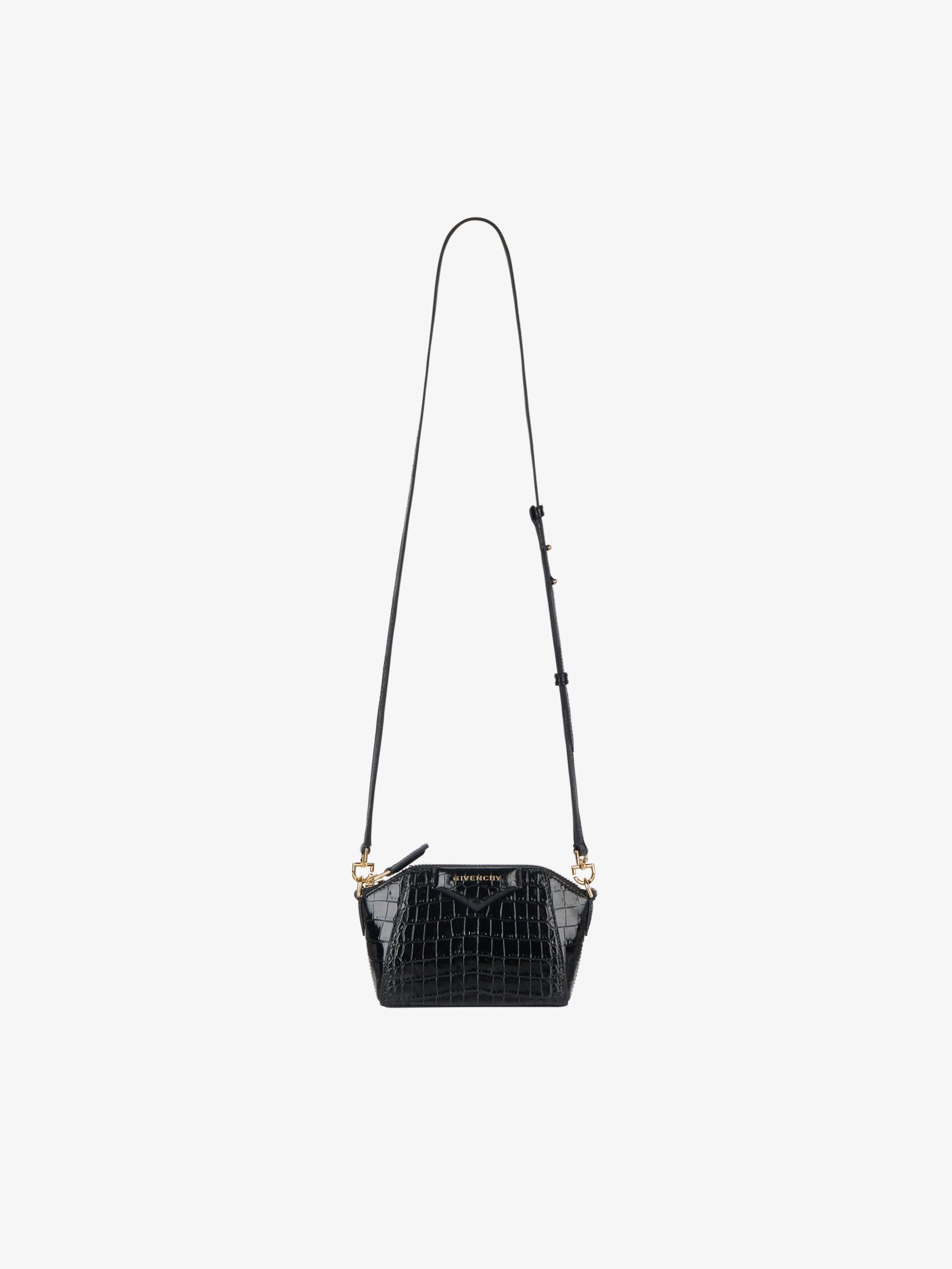Nano Antigona bag in crocodile effect leather