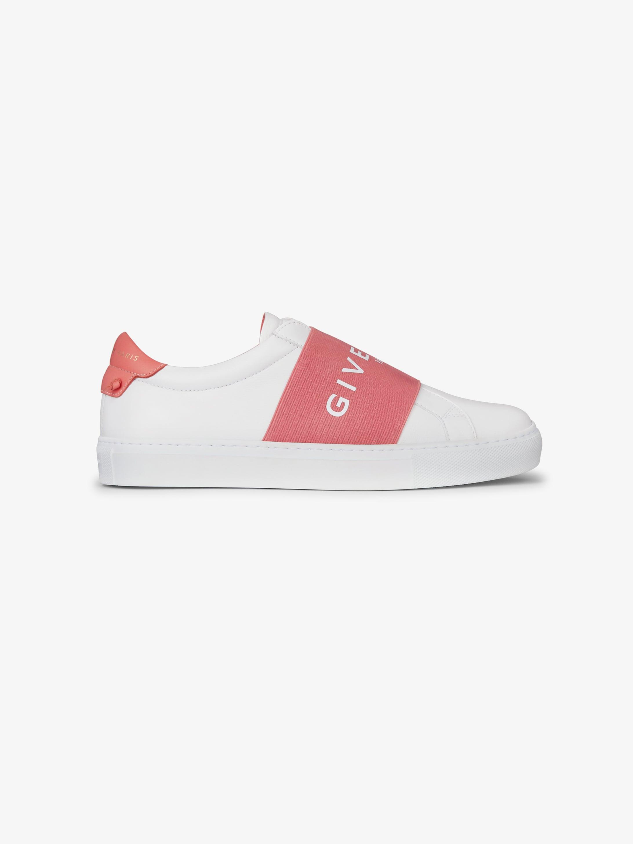 GIVENCHY PARIS织带皮革运动鞋