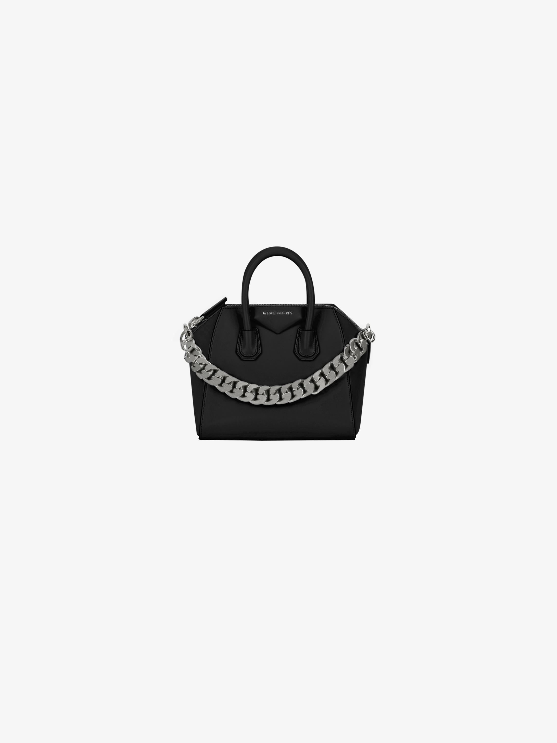 Mini Antigona bag in box leather with chain