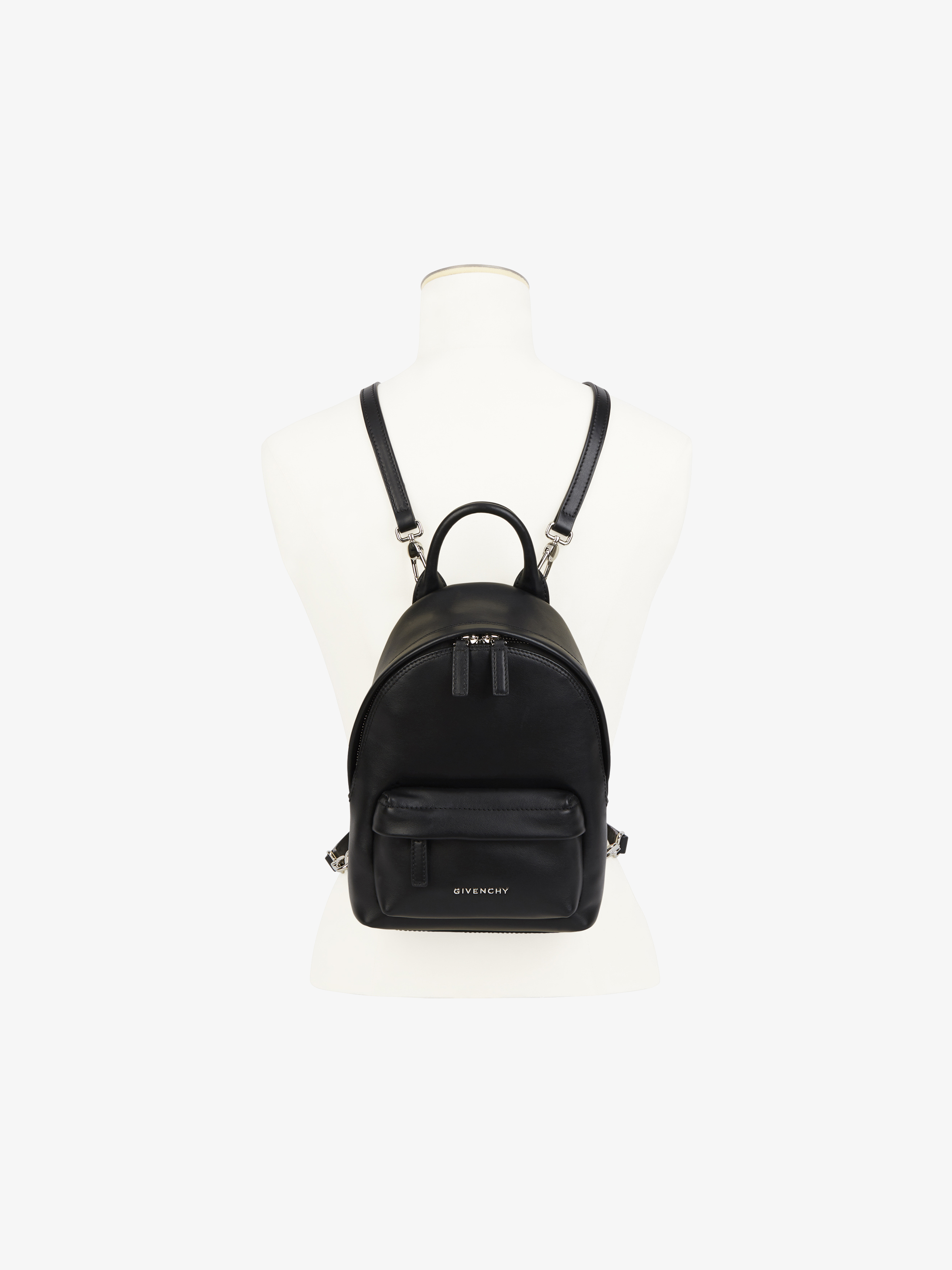 Nano leather backpack