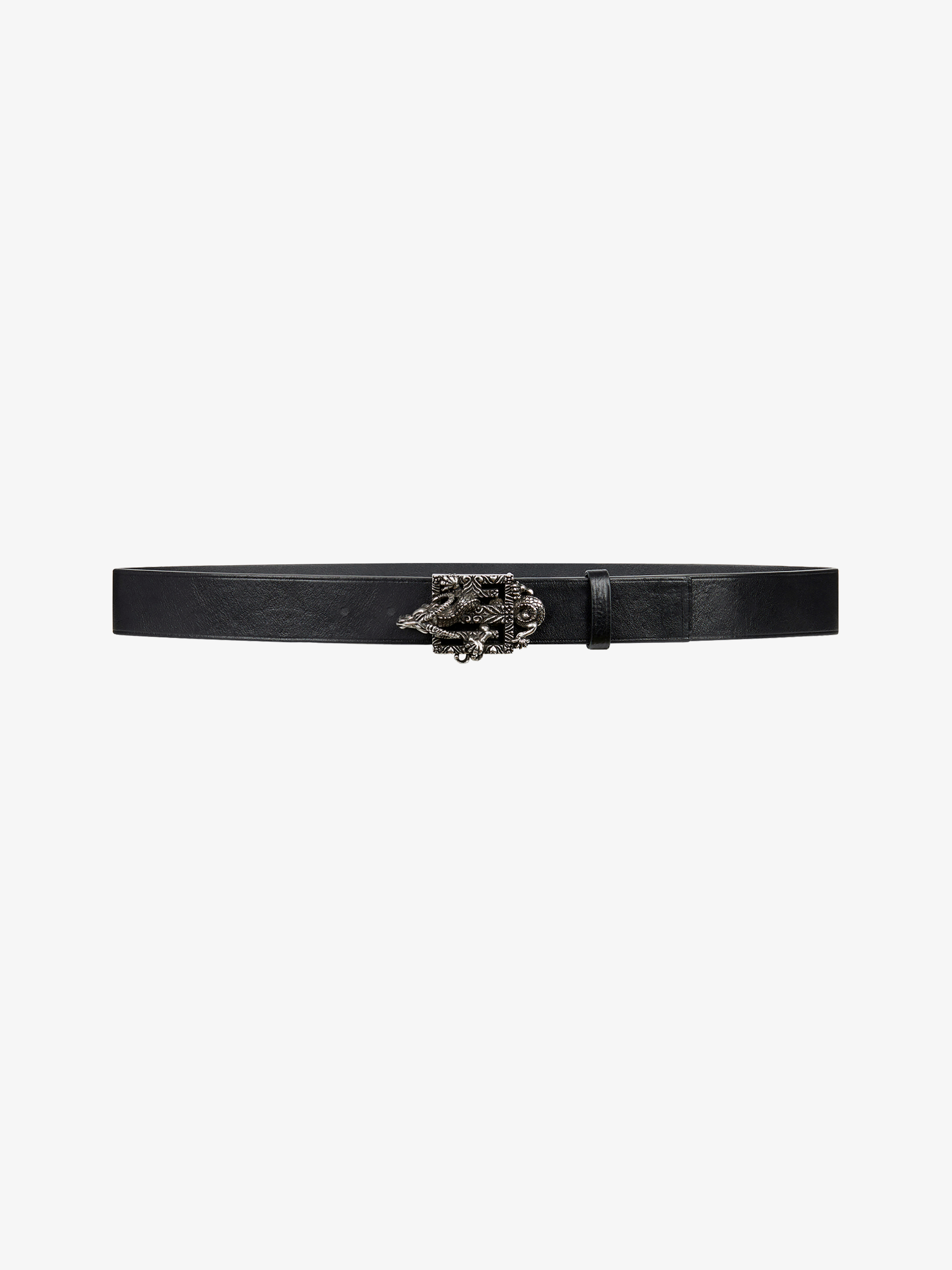 4G Capricorn buckle belt in leather