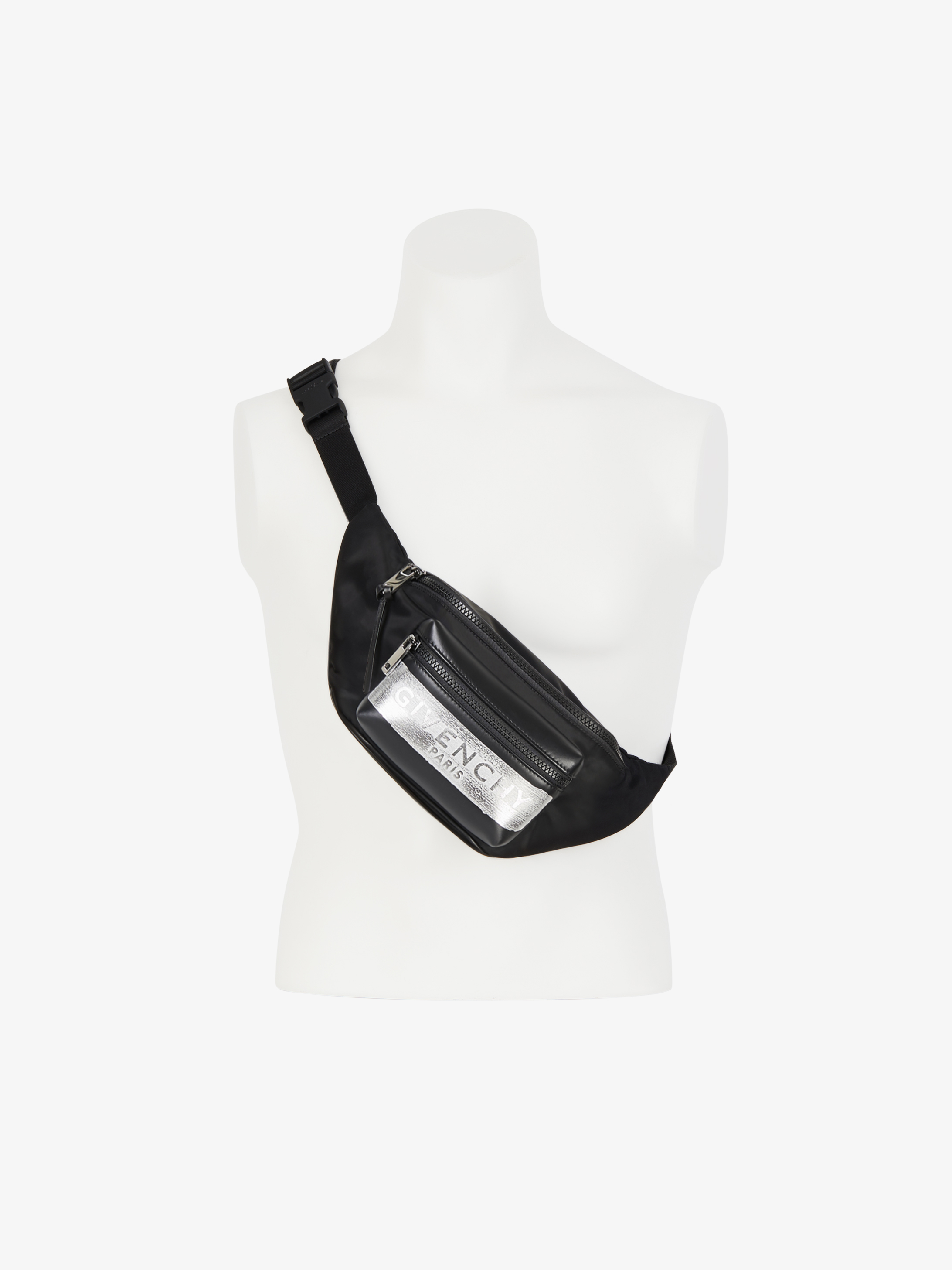 GIVENCHY bum bag in nylon with latex band