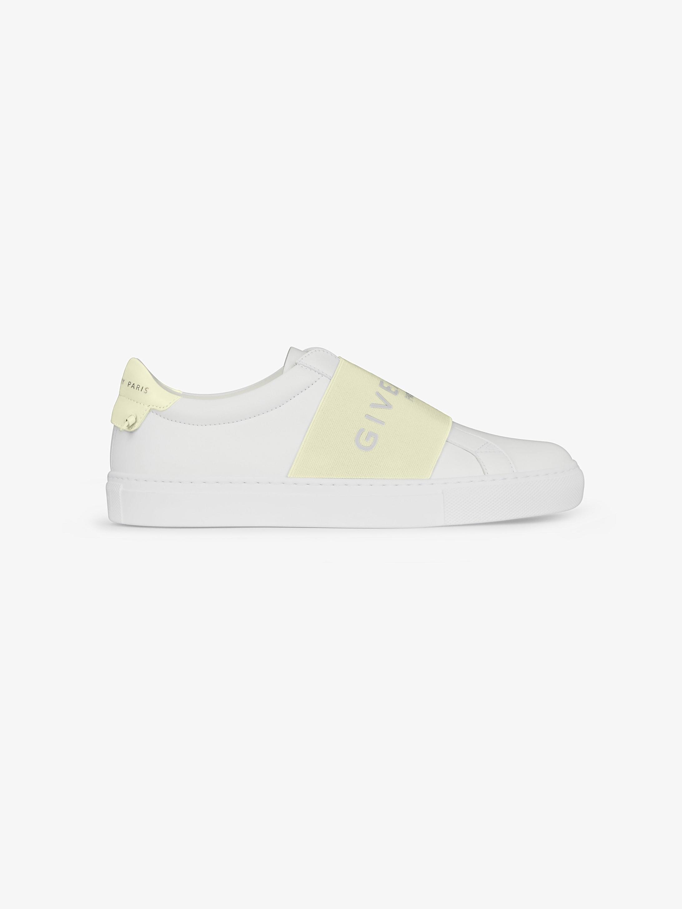 Sneaker di pelle con fascia