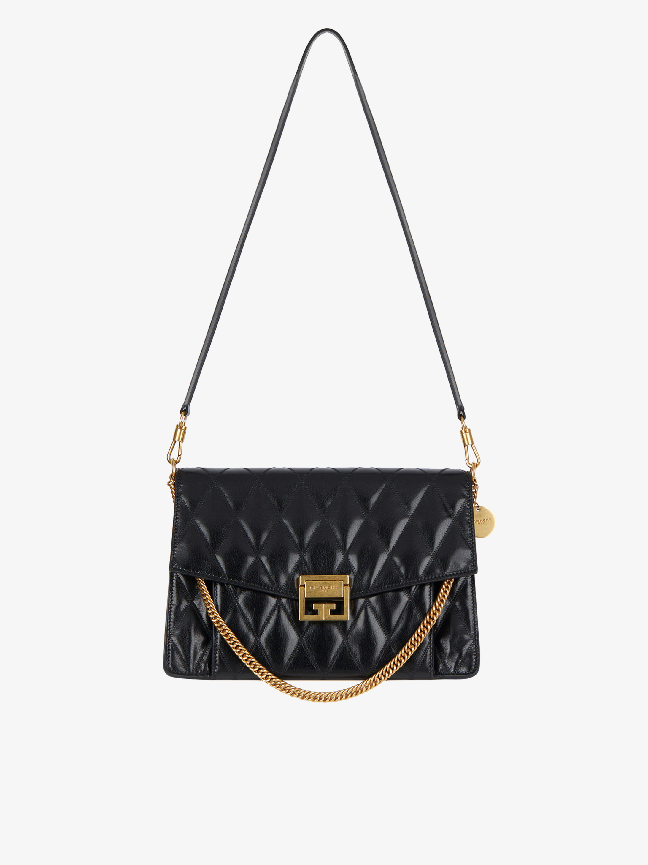 Medium GV3 bag in diamond quilted leather