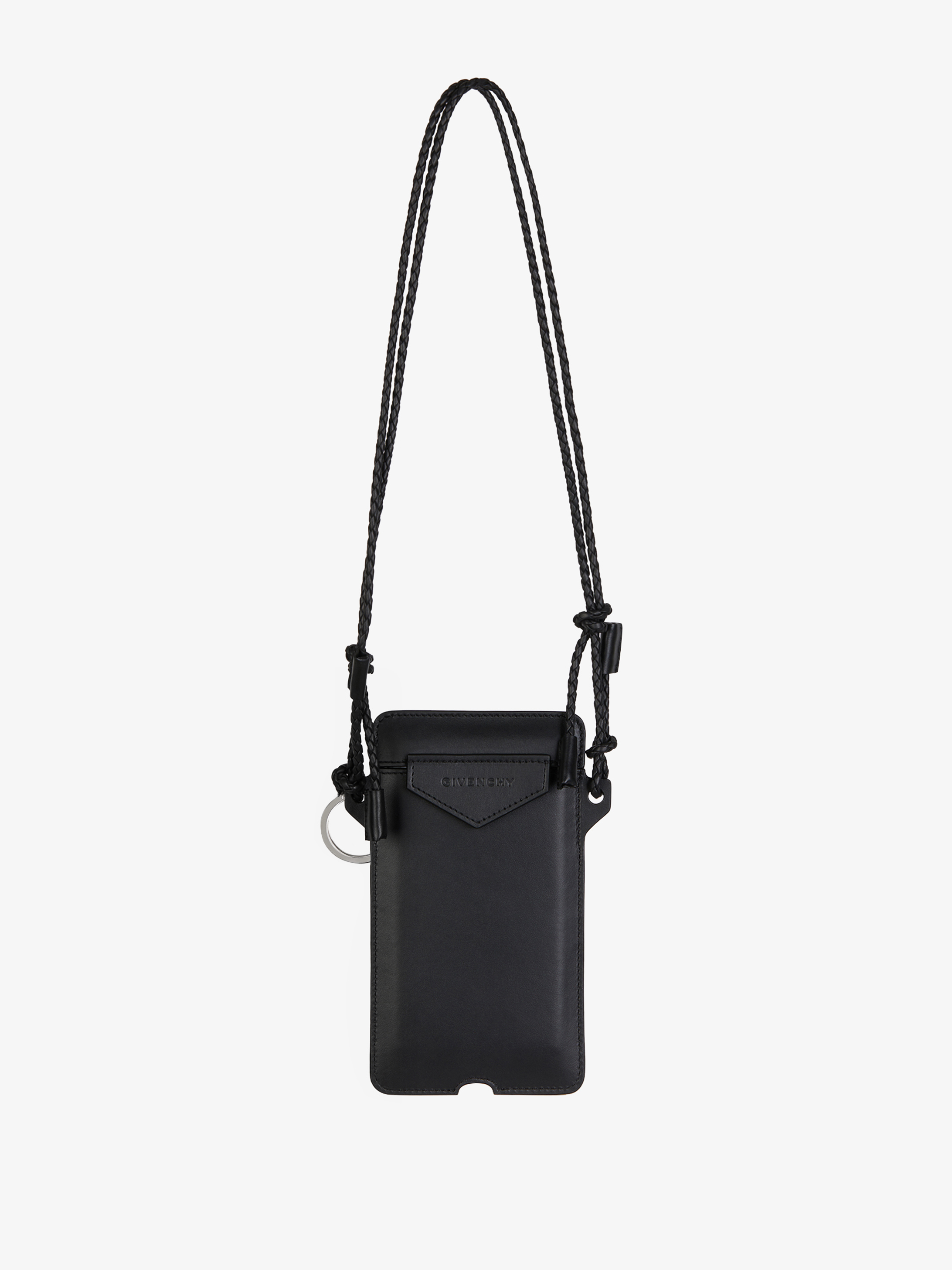 Antigona IPhone case collar in leather