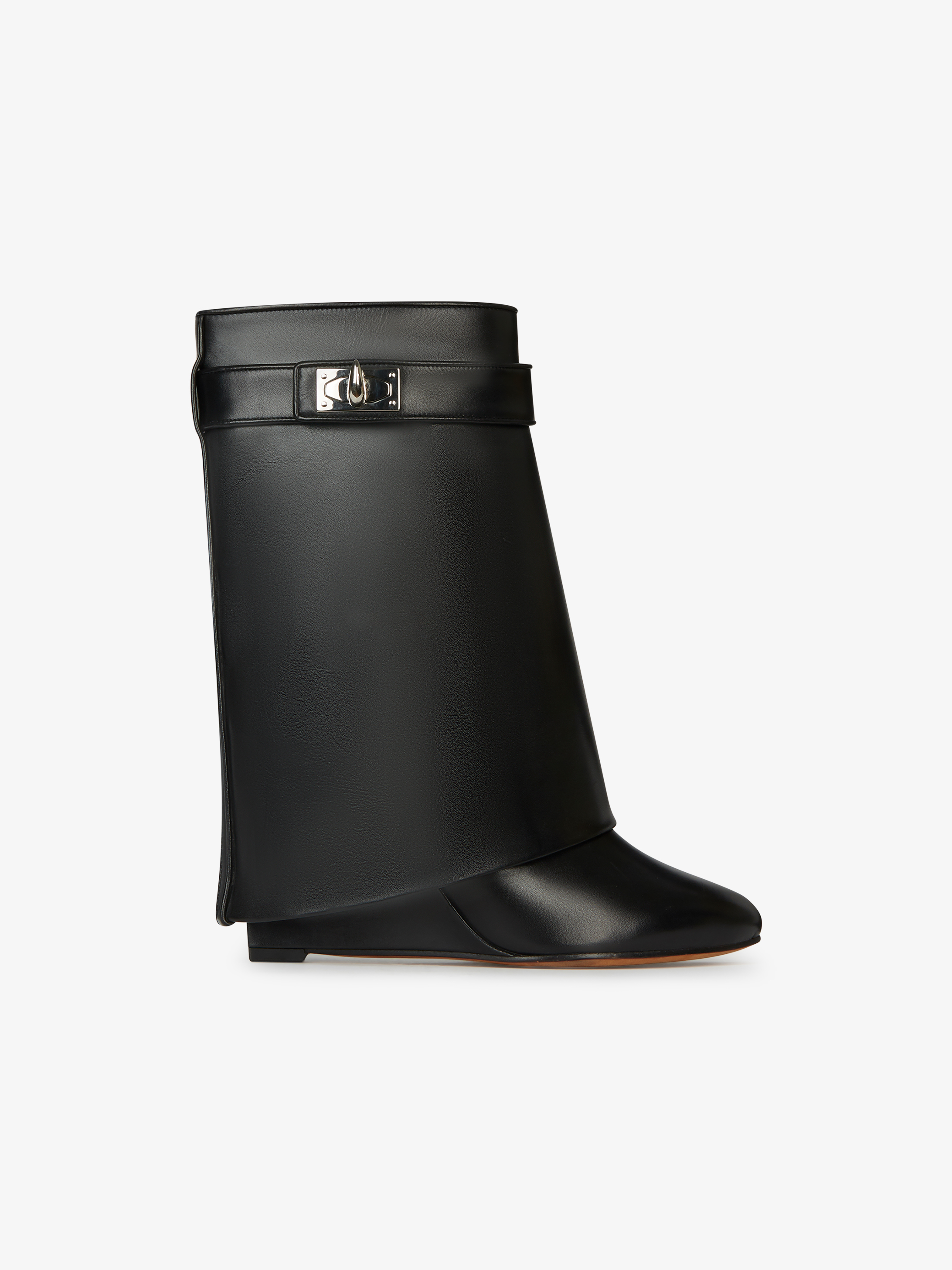 Shark Lock ankle boots in leather