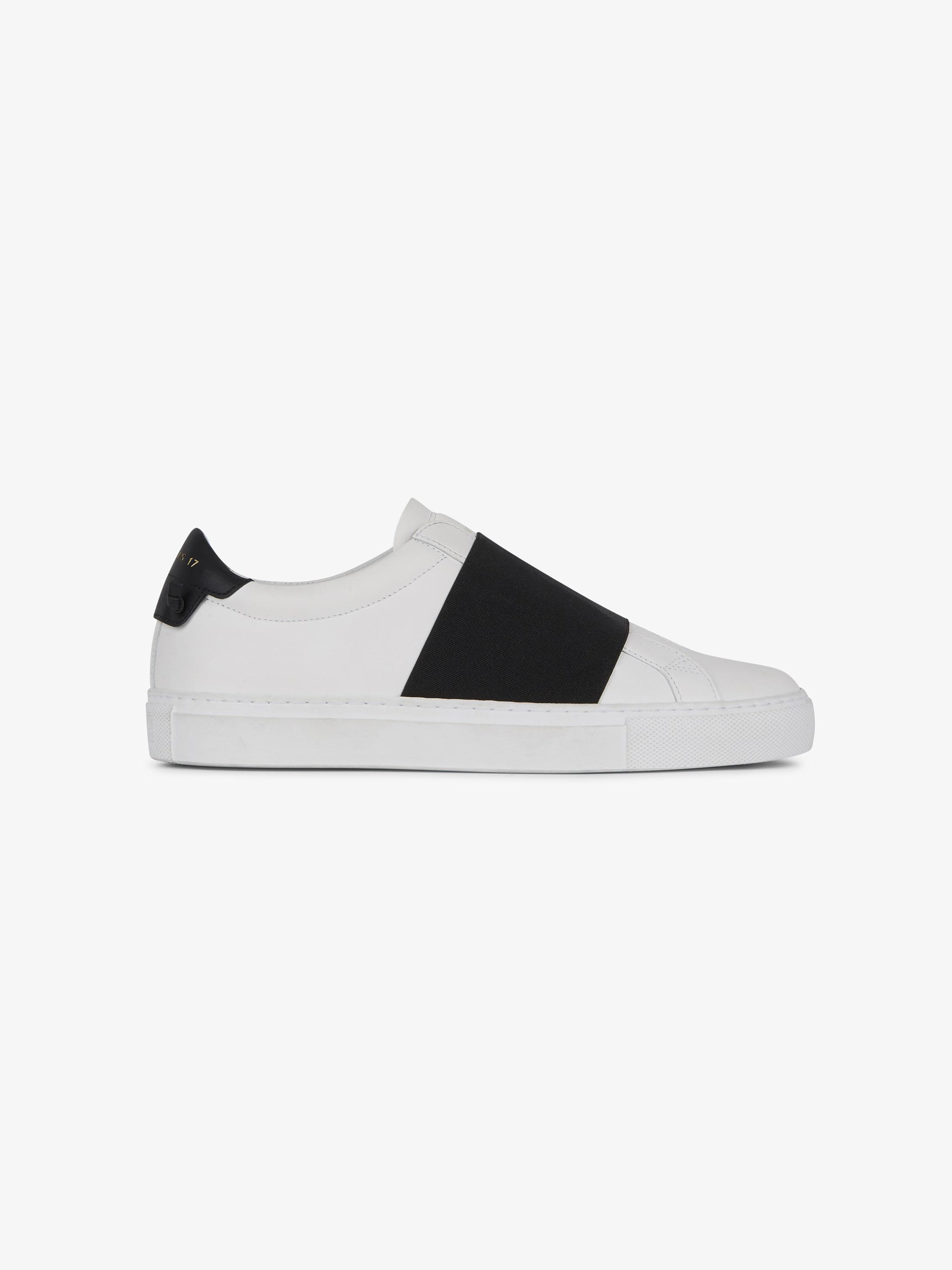 Sneaker Urban Street in pelle con fascia elastica
