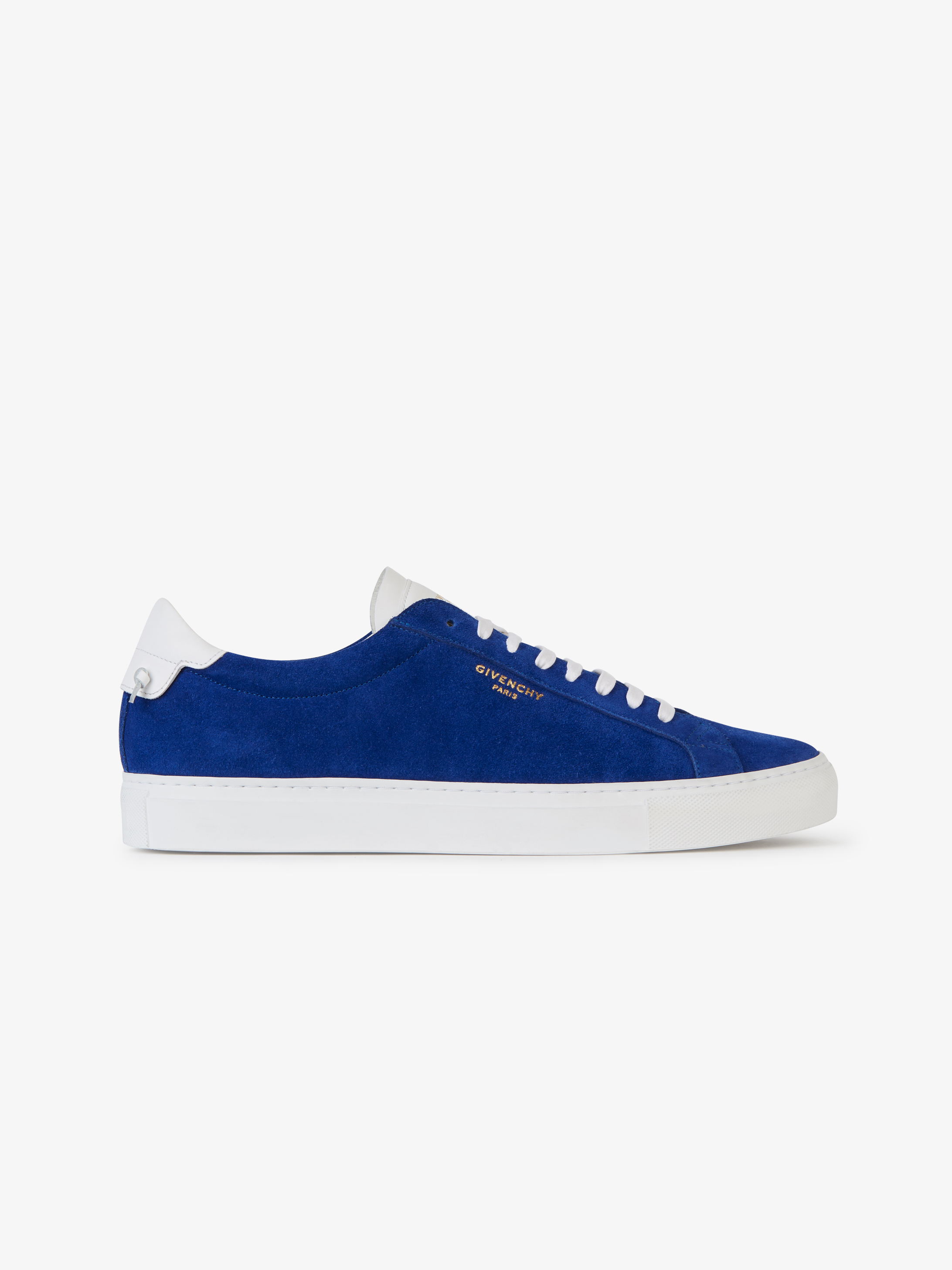 Low sneakers in bicolor suede