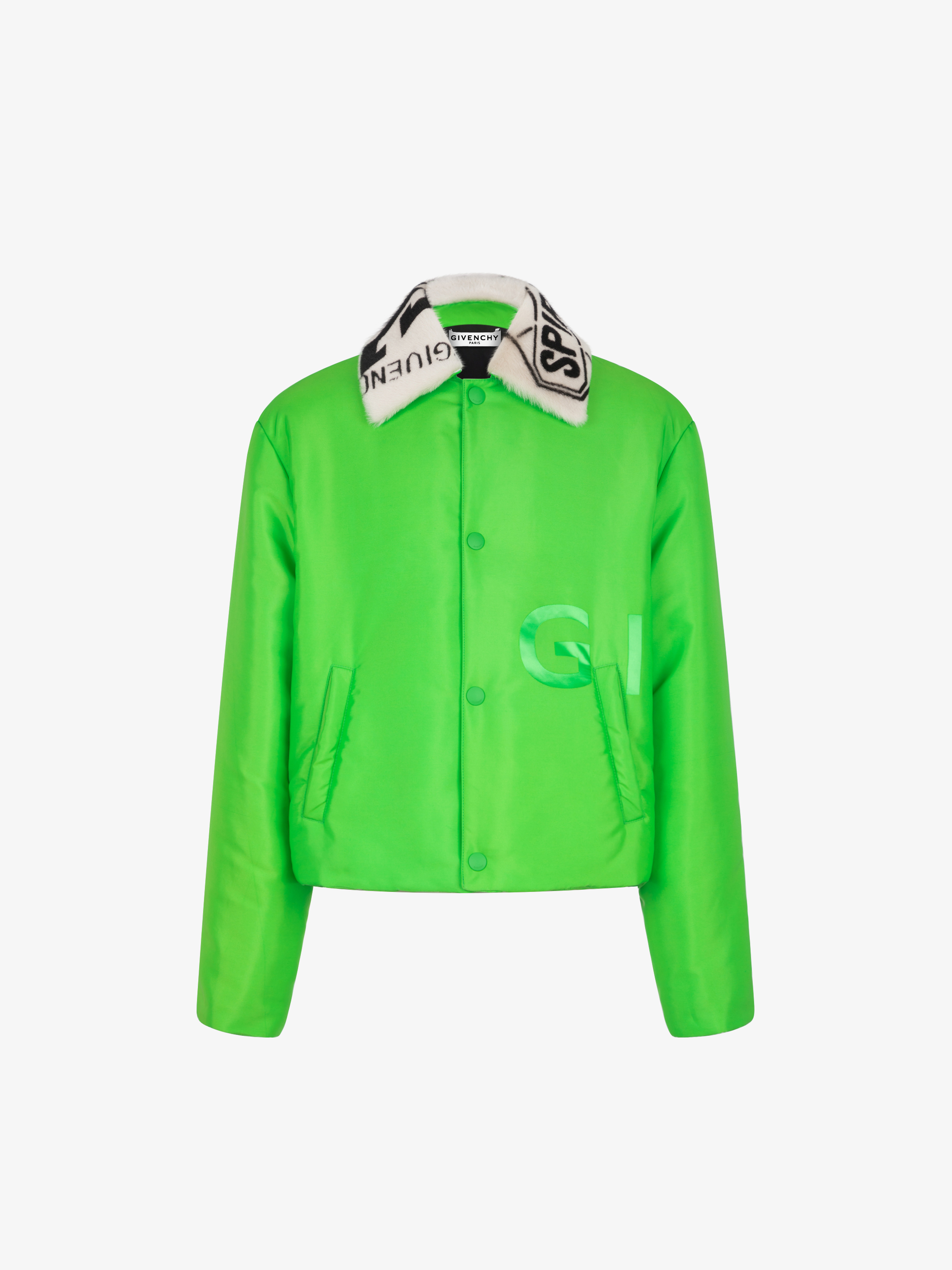 GIVENCHY jacket with collar in sheep lining