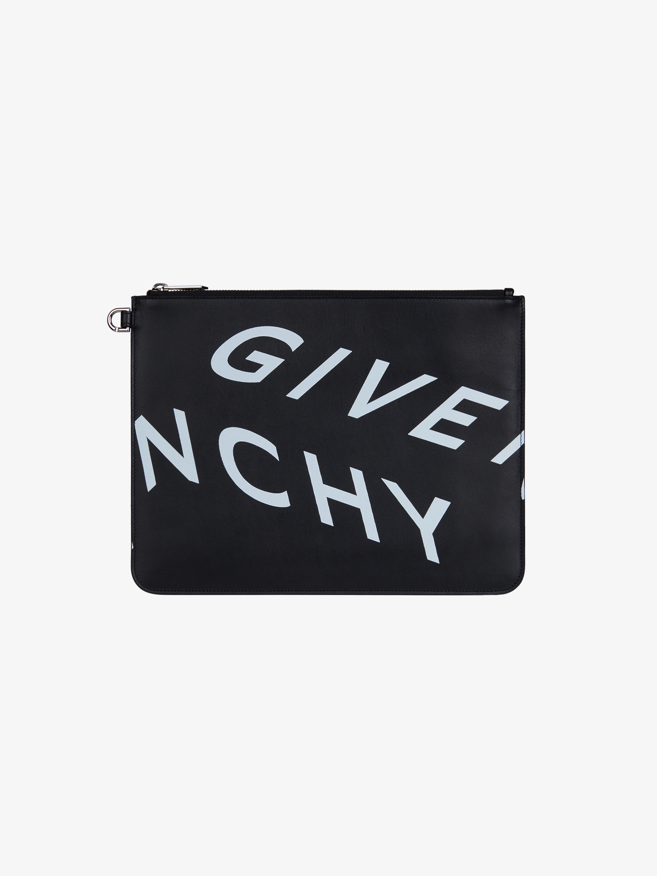 GIVENCHY Refracted large zipped pouch in leather