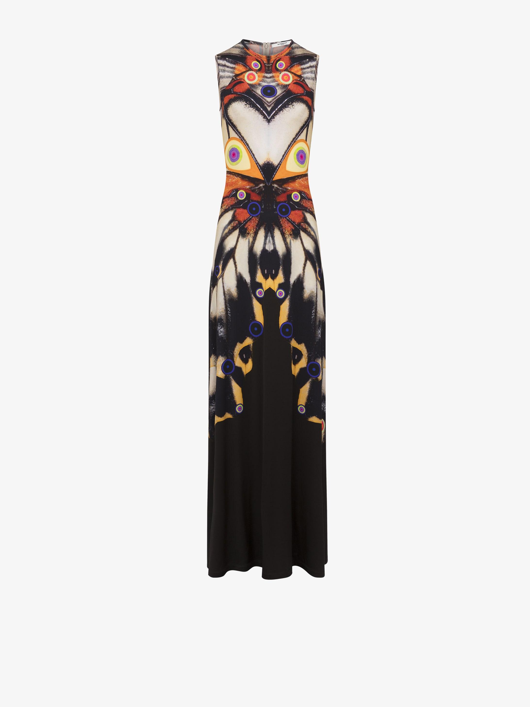 f1242b04be7 Givenchy Robe longue imprimée papillon