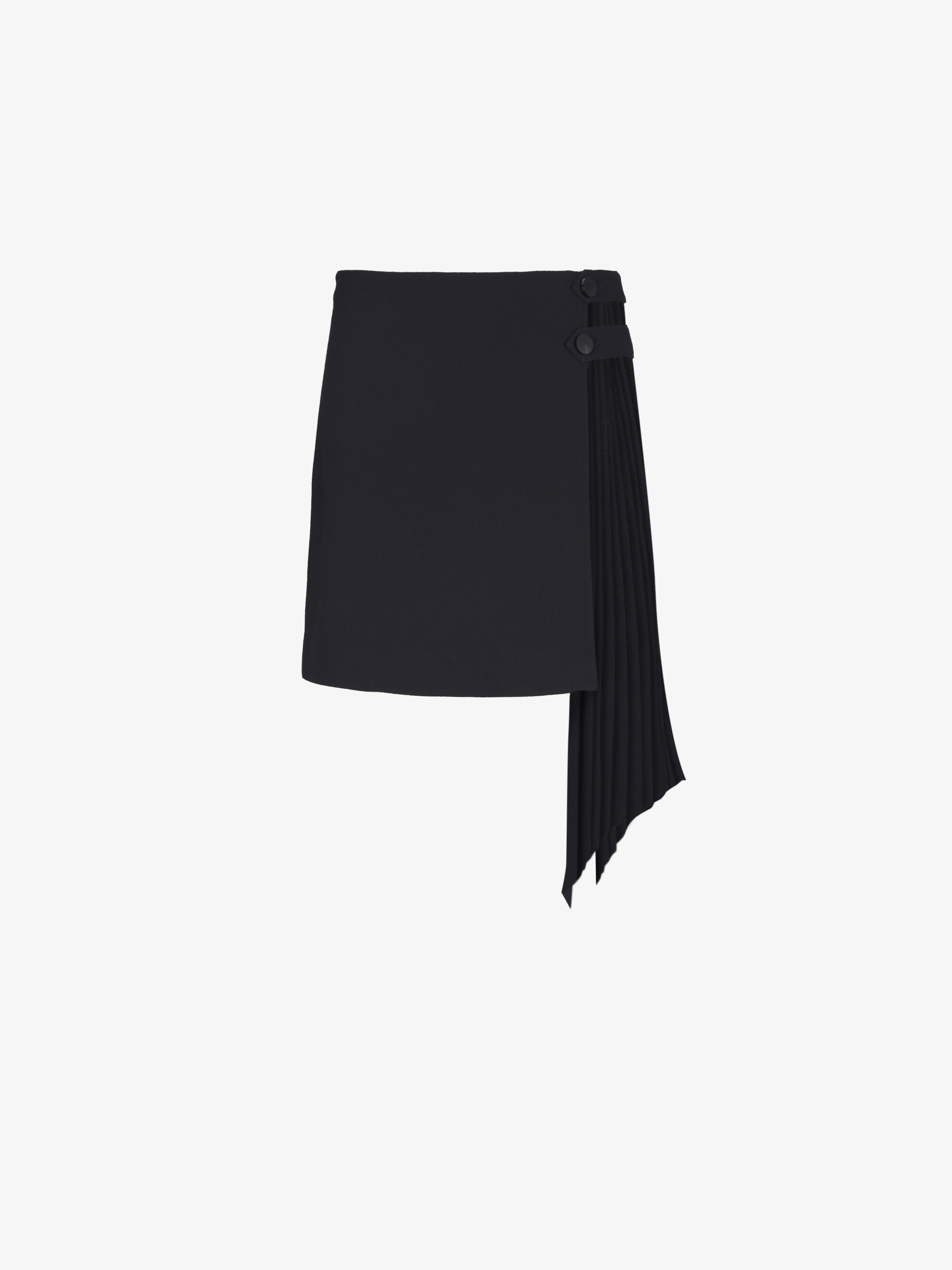 Mini skirt with pleated godet