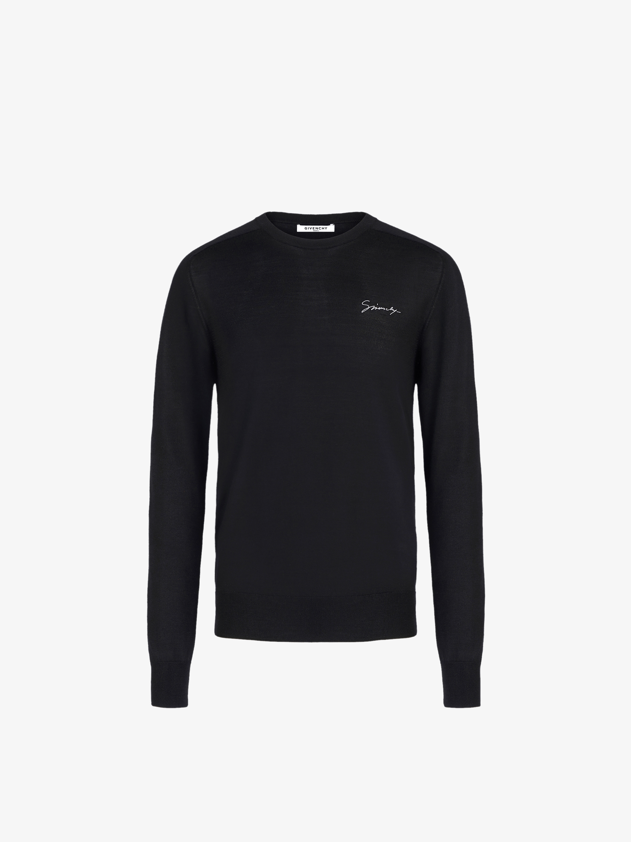 GIVENCHY embroidered sweater in silk