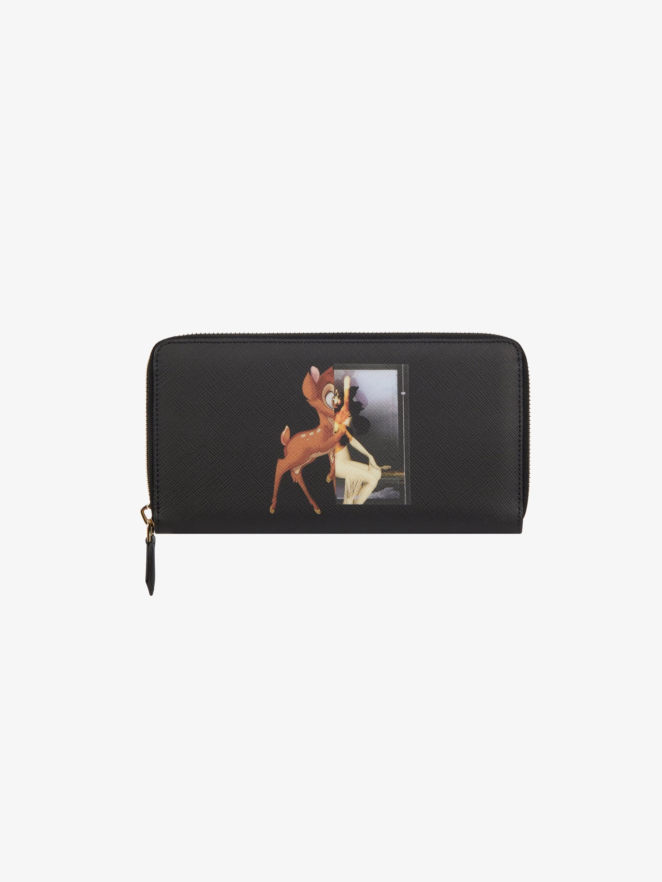 Bambi printed long zipped wallet